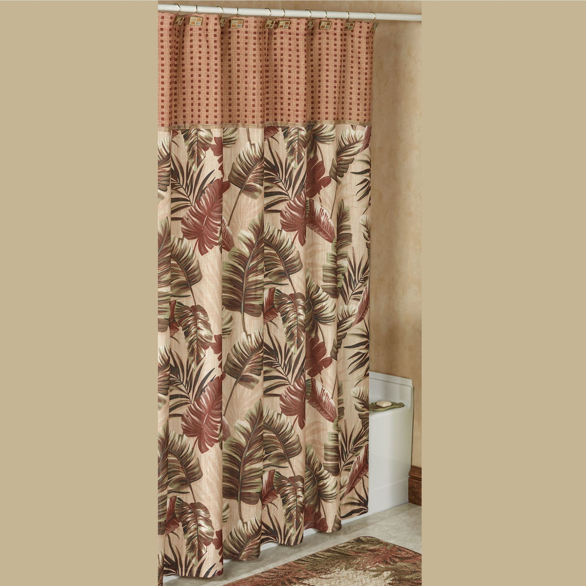 Key West Tropical Shower Curtain Multi Warm 72 X