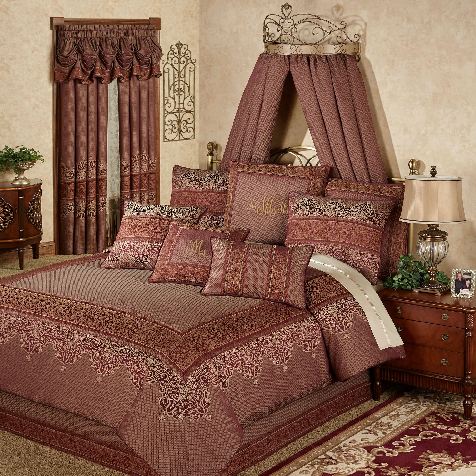 reverse corduroy today mini monterey bedding madison overstock free comforter burgundy bath product shipping set berber park to
