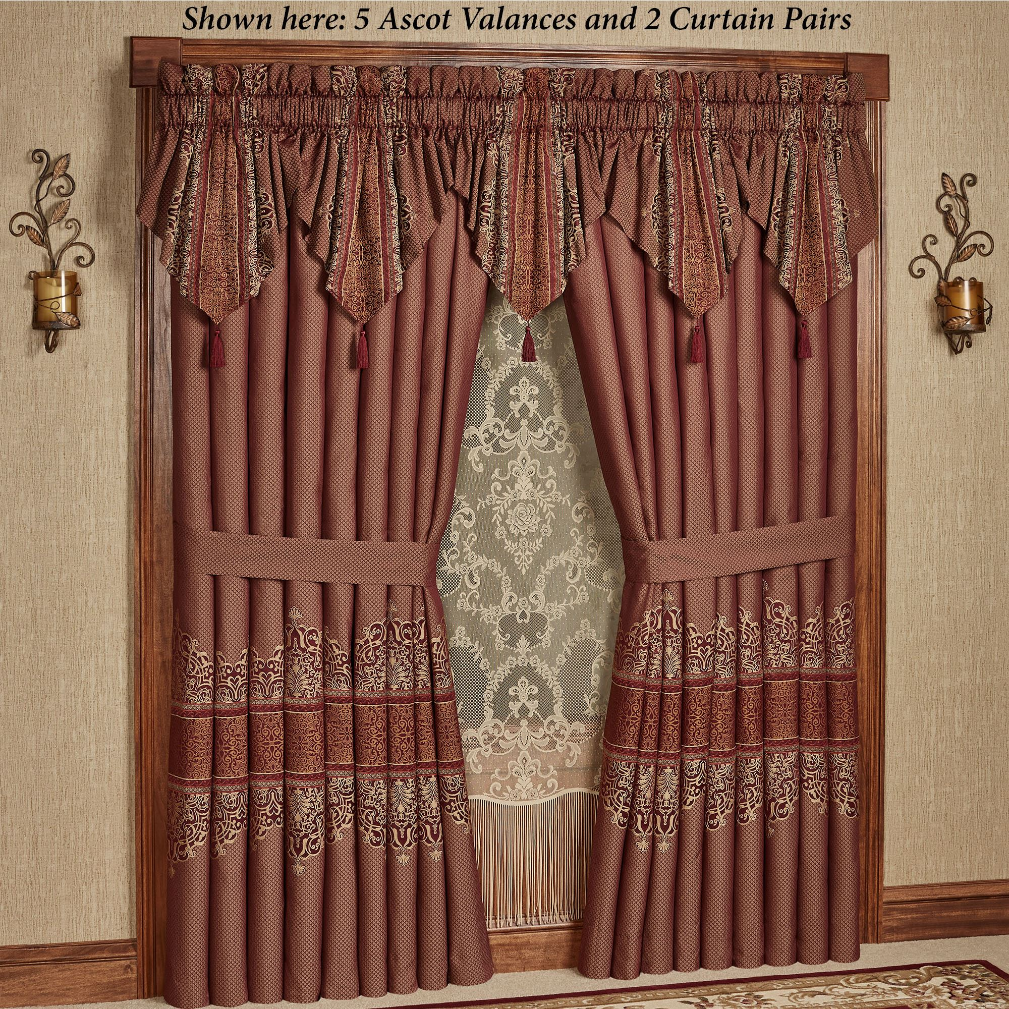 Eastleigh Ruby Ascot Valance Window Treatment