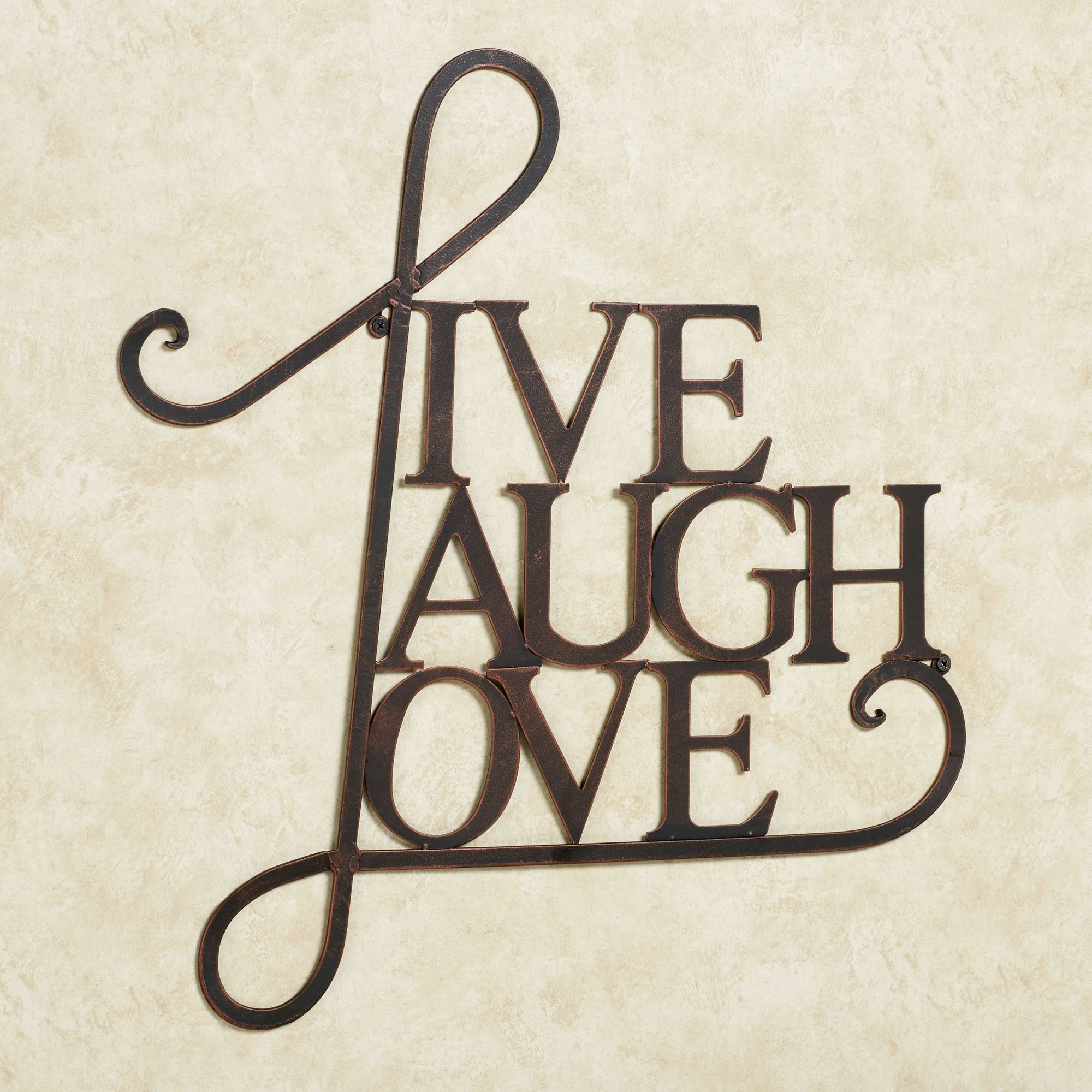 Word Art Home Decor: Live Laugh Love Metal Word Wall Art