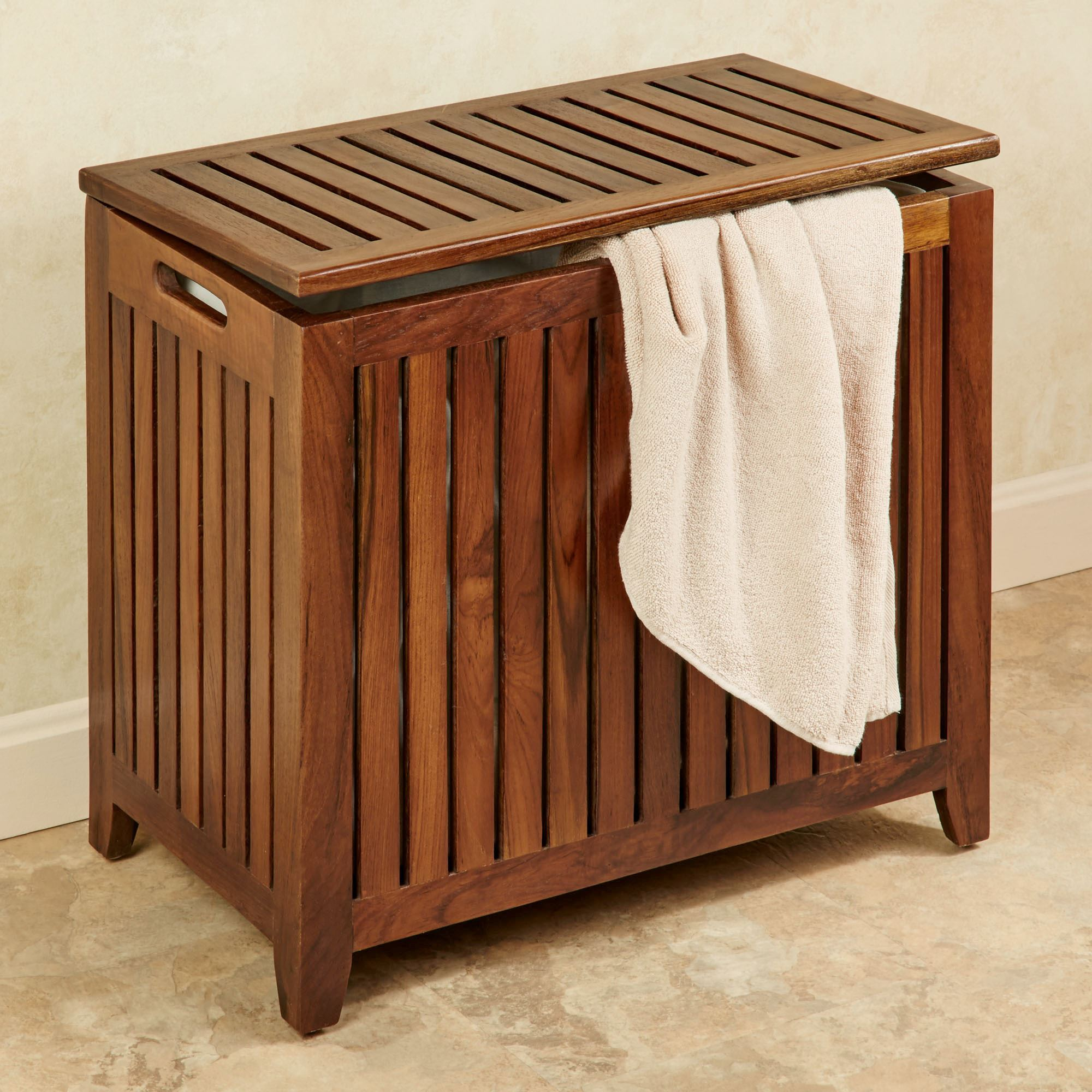 Jonas Large Teak Wood Hamper