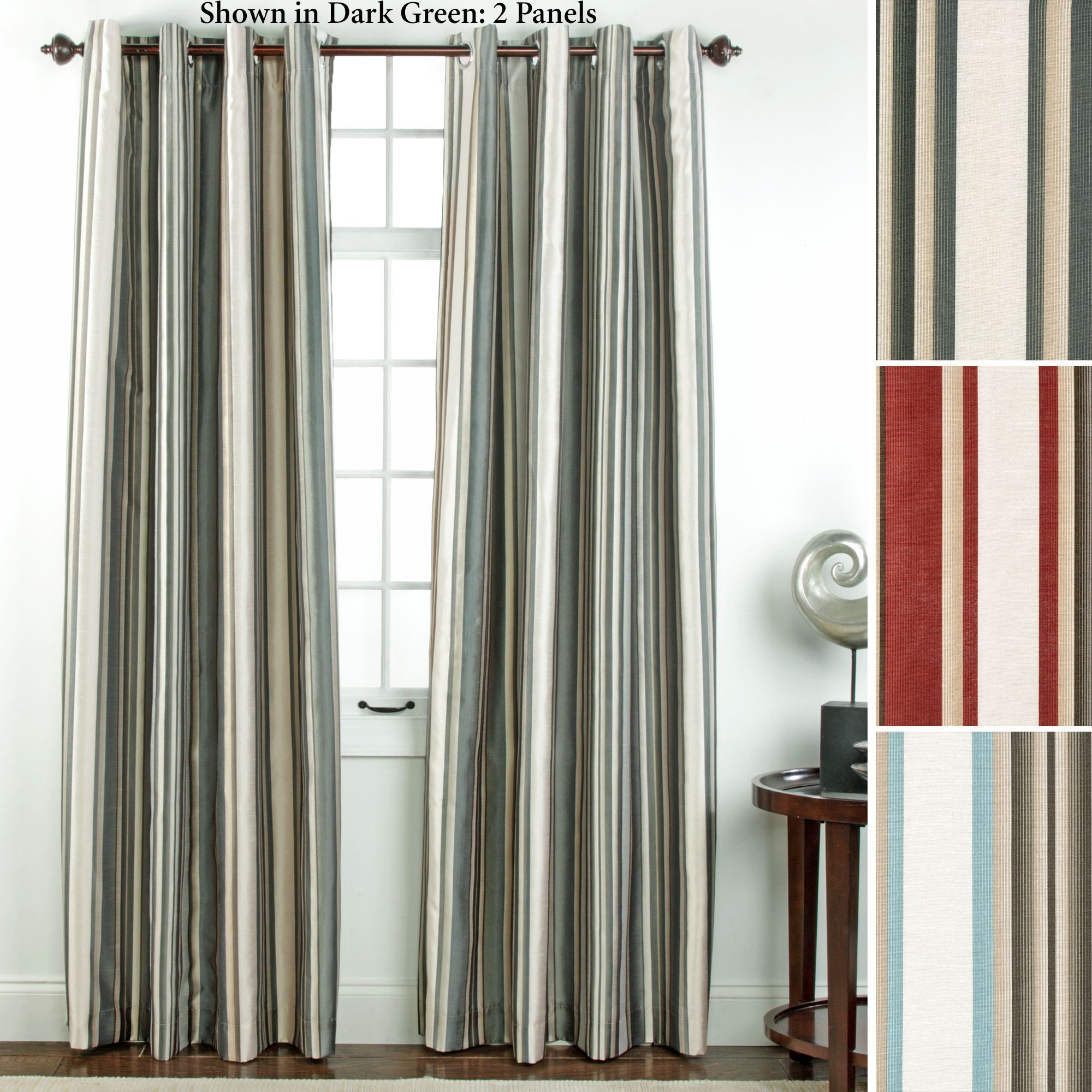 panel exclusive curtains pattern garden fabrics curtain pair product striped flambe blackout home