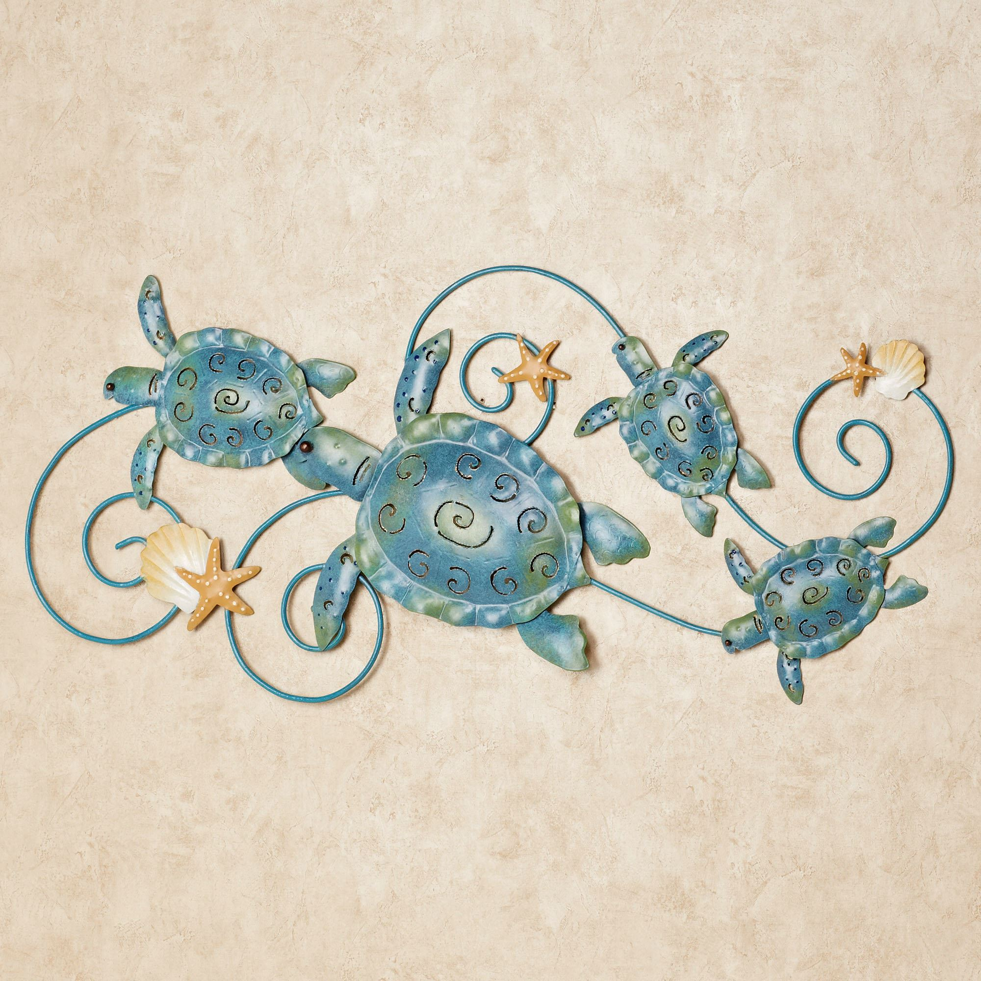 Blue Metal Wall Decor Glamorous Ocean Friends Sea Turtle Metal Wall Art Inspiration