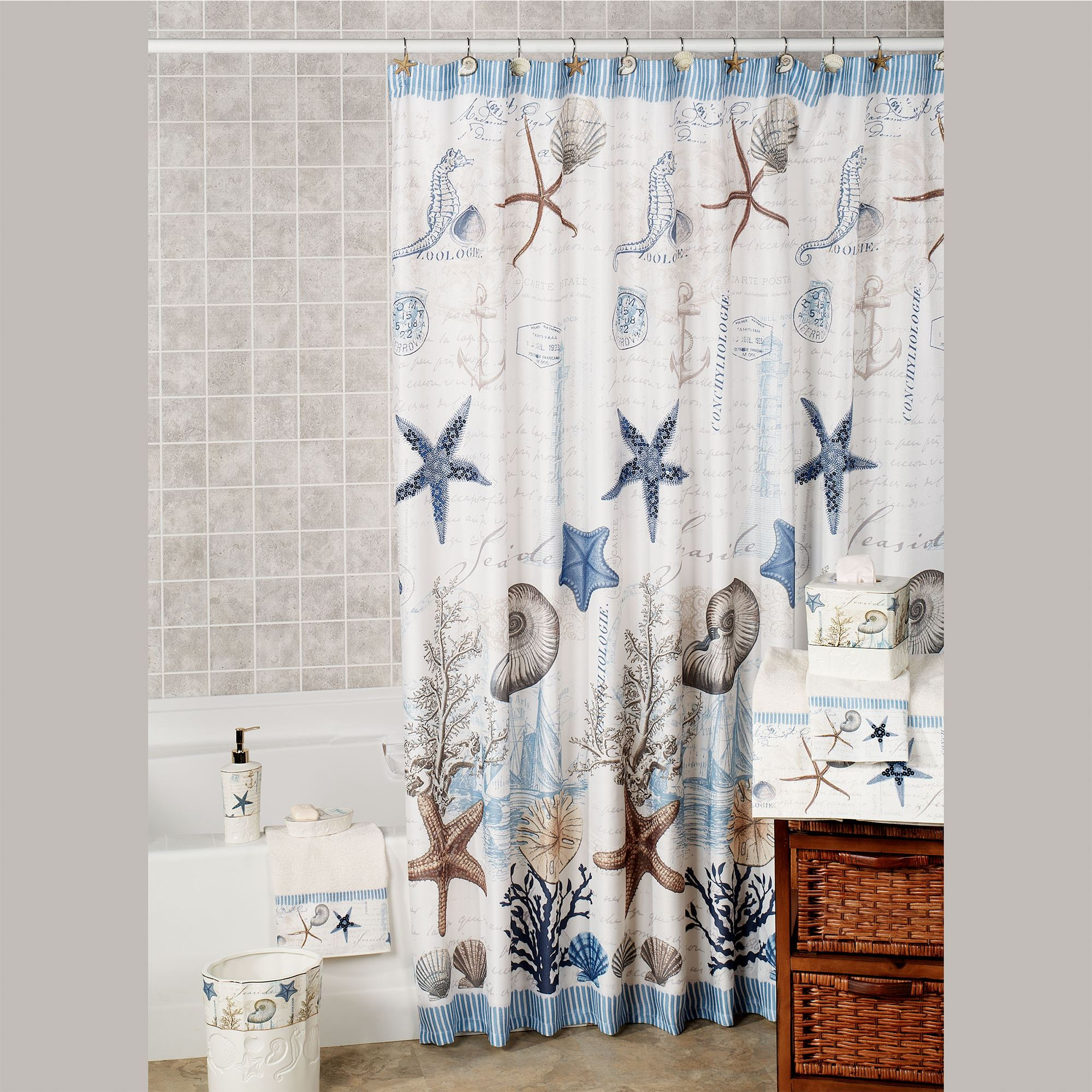 Antigua Shower Curtain Ivory 72 X