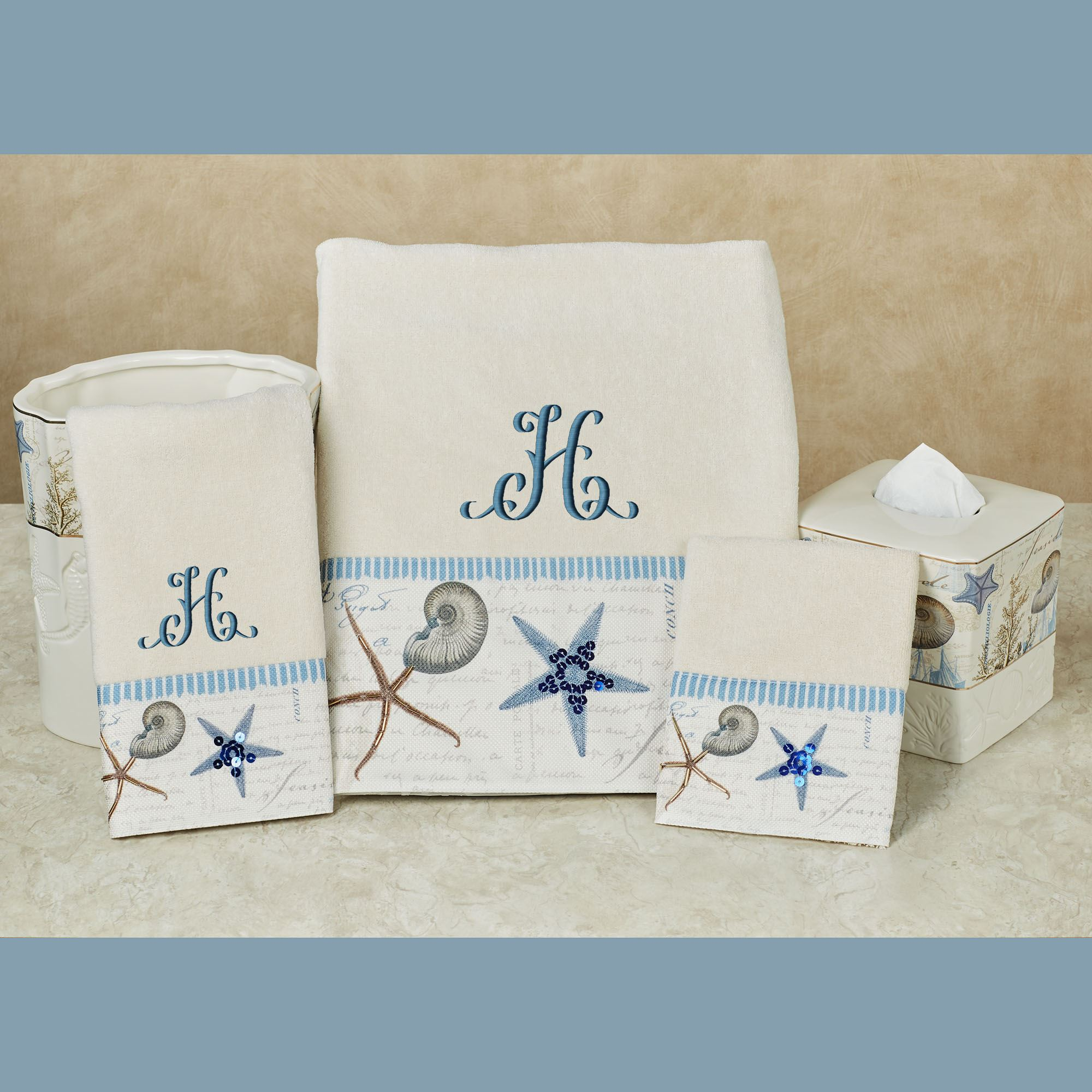 Antigua Starfish Coastal Bath Towel Set