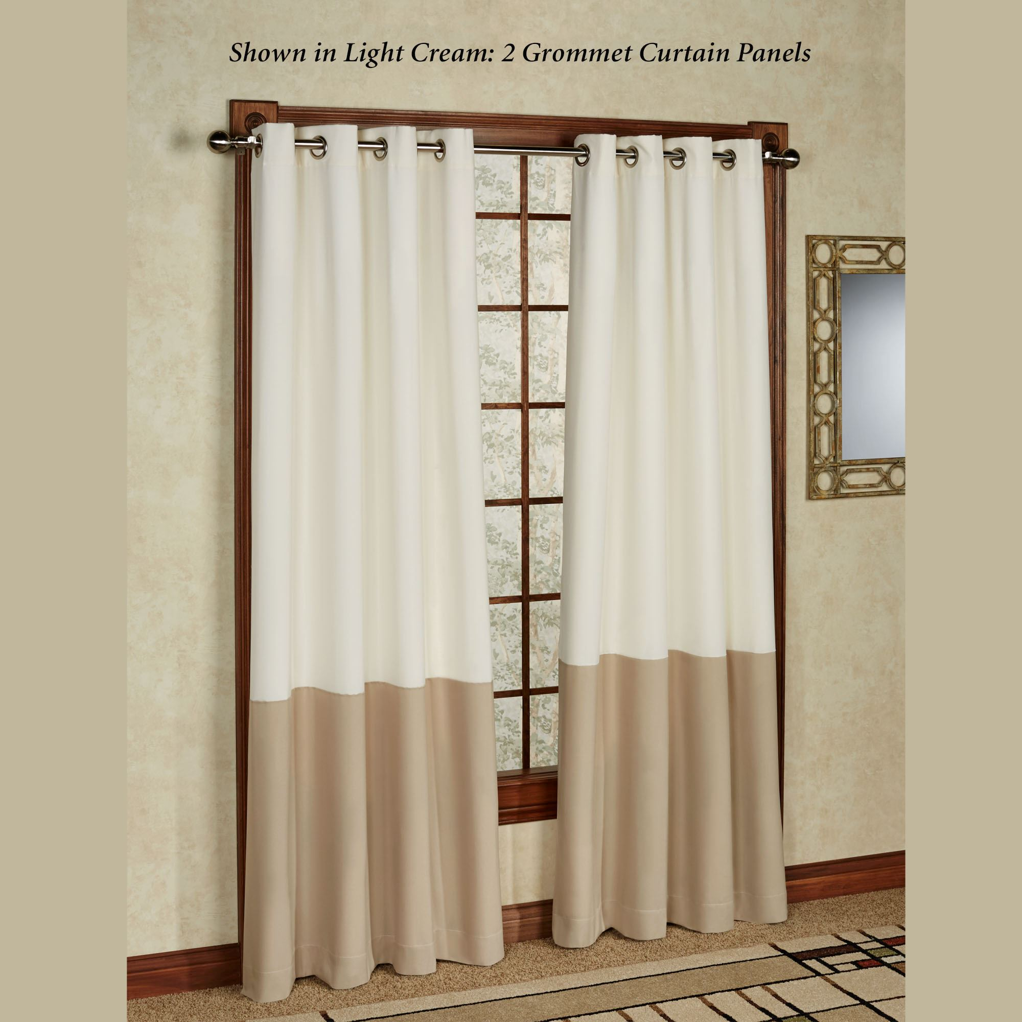 Kendallin Grommet Curtain Panel Touch To Zoom