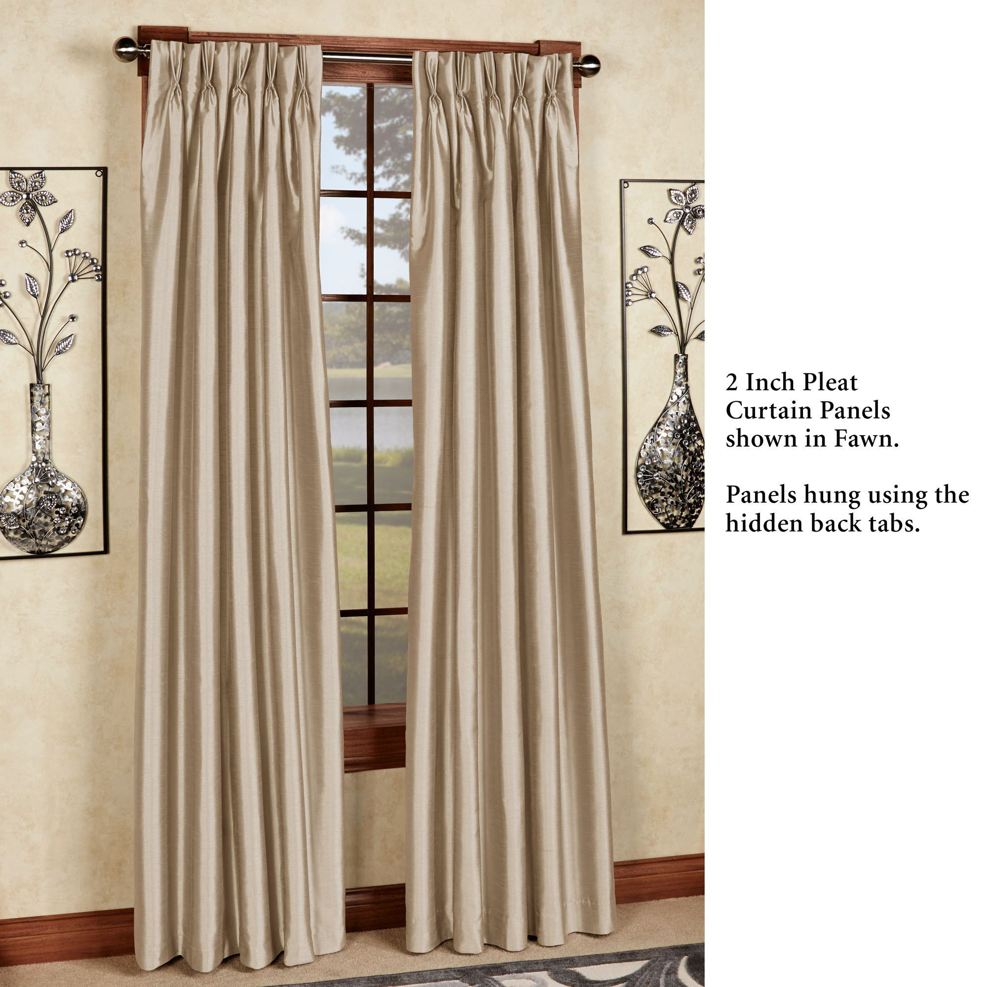 Marquee Flared Faux Silk Pinch Pleat Curtain Panel