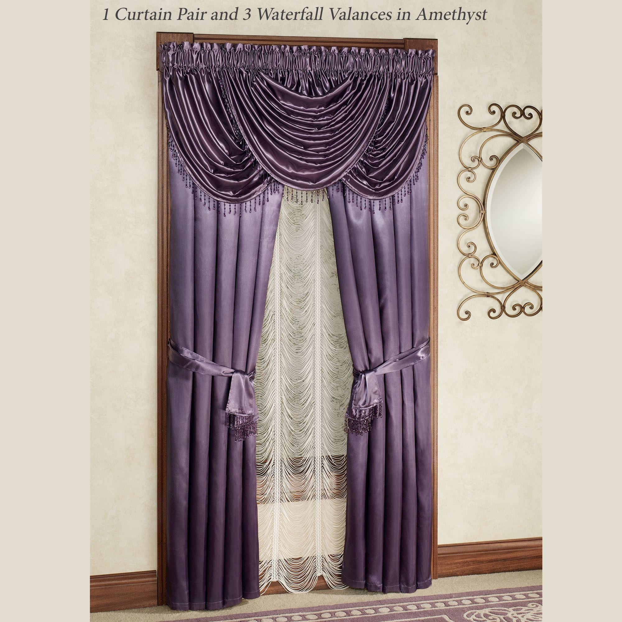satin valances expand orchid to treatment click valance marquis window tailored x p haze purple curtain pair