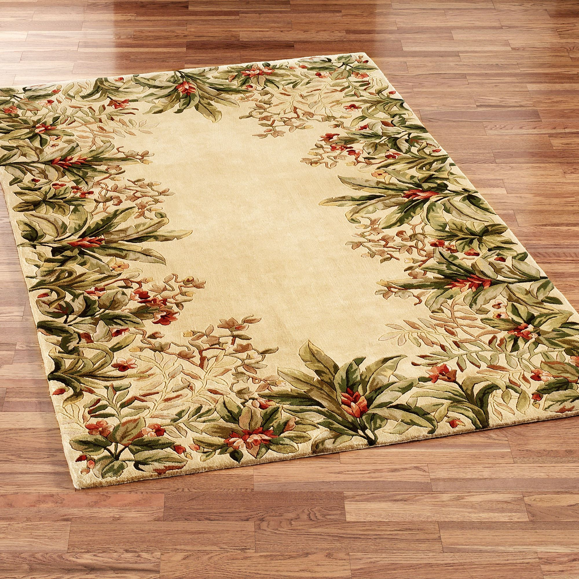 Island flora area rugs for Area carpets and rugs