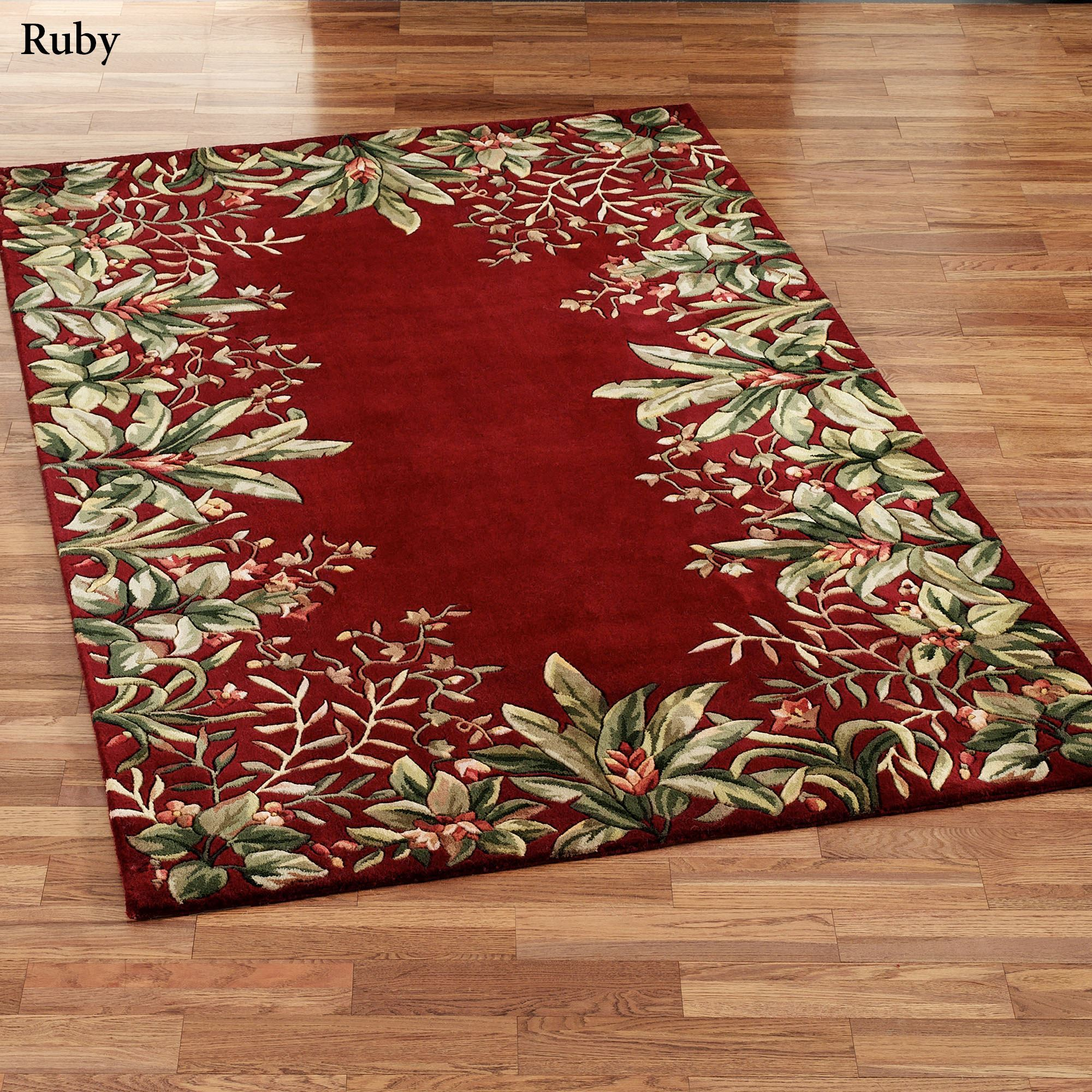 Red And Gray Bath Rugs
