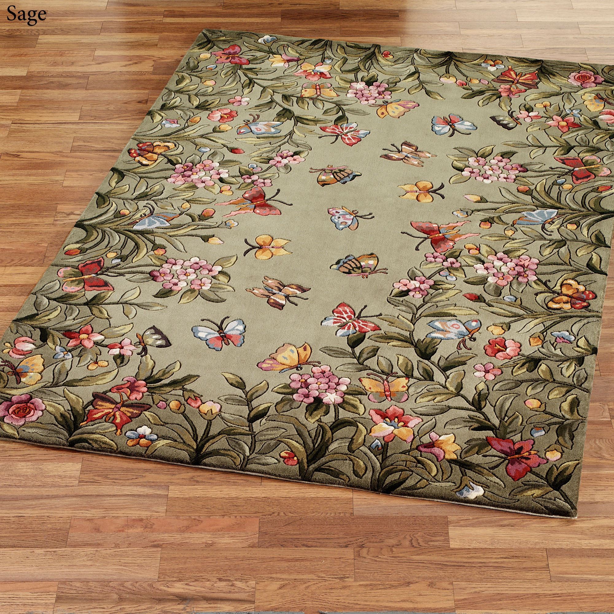 Garden Decor Nutty Rug: Athena Garden Floral Area Rugs