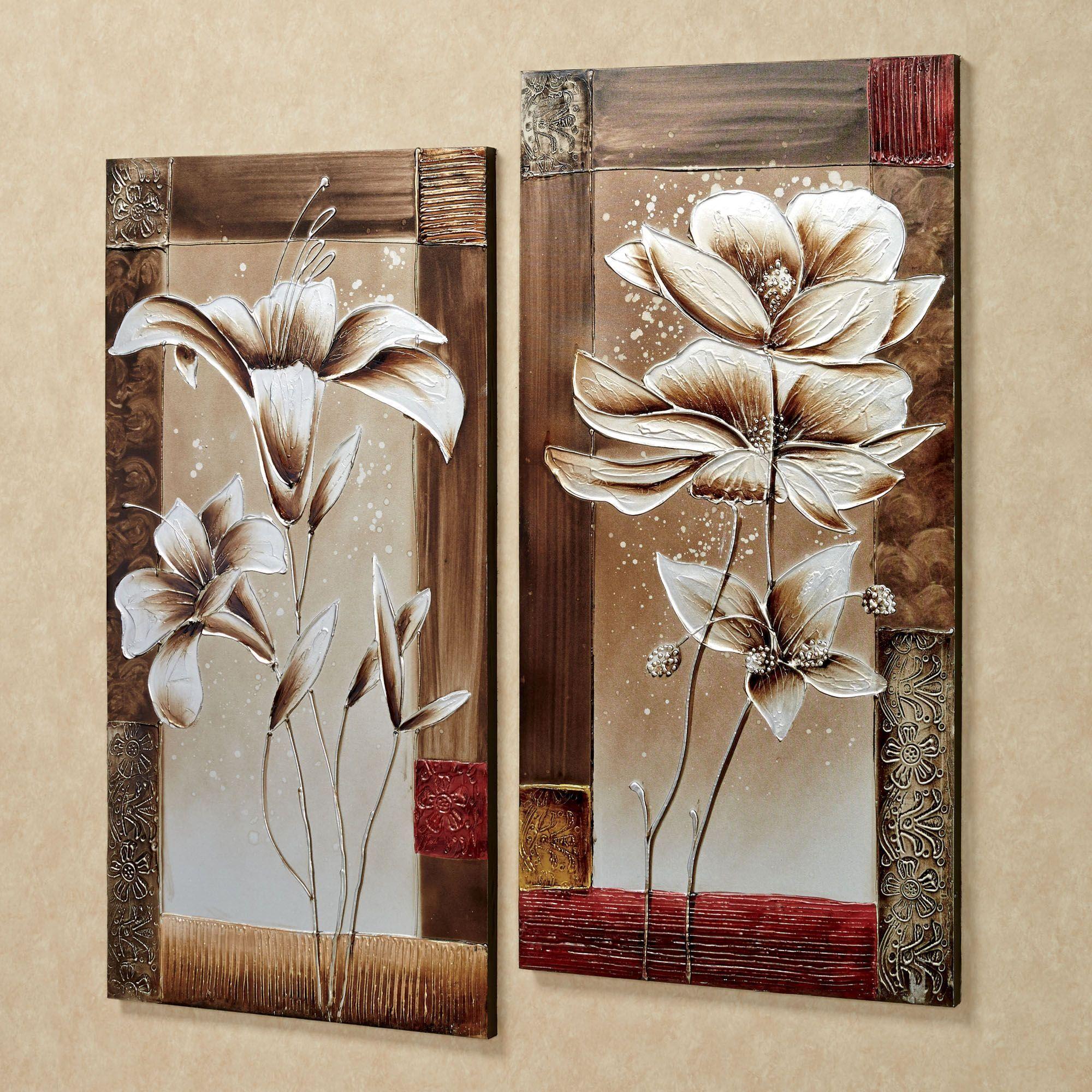 Petals of Spring Floral Canvas Wall Art Set