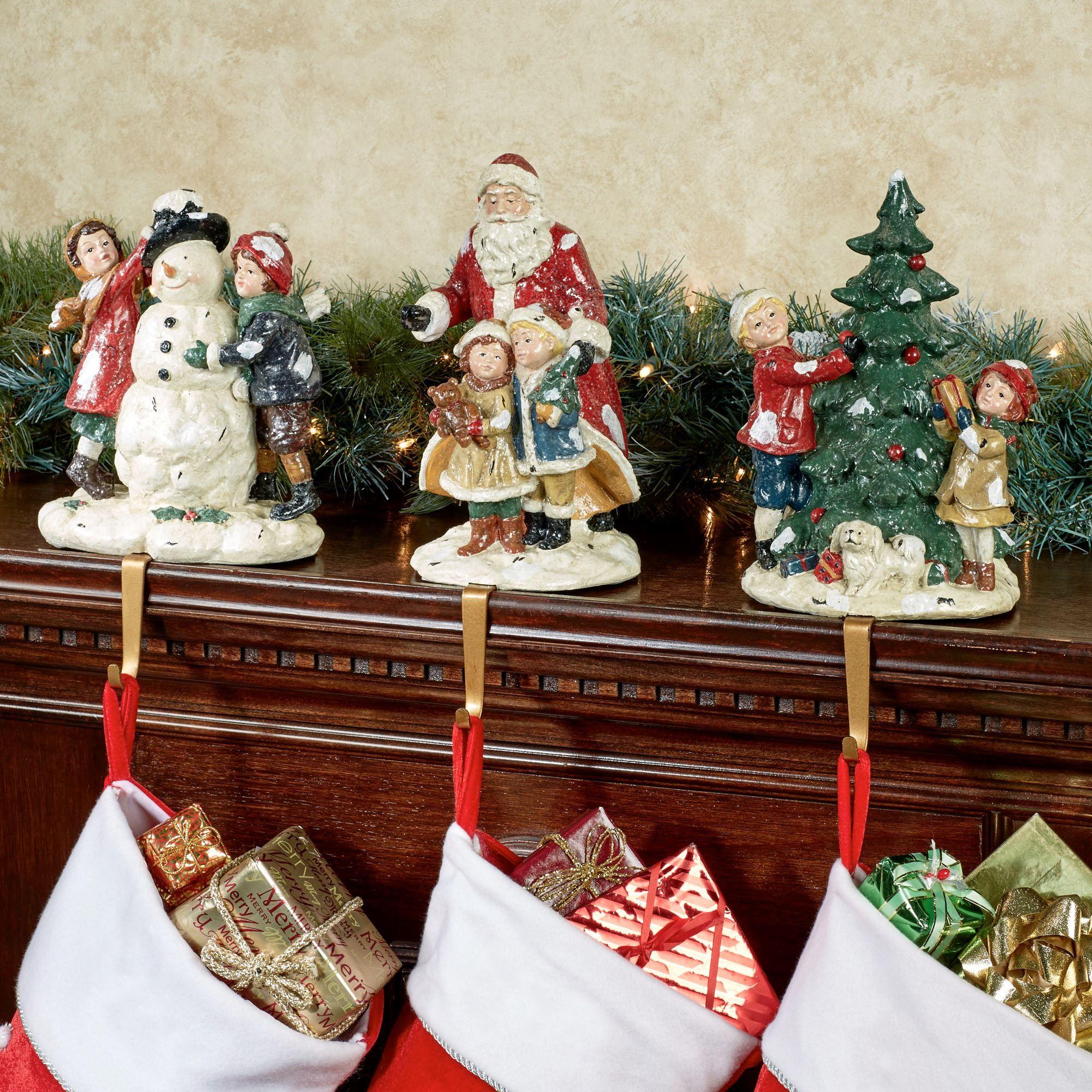Night Before Christmas Stocking Holder Set