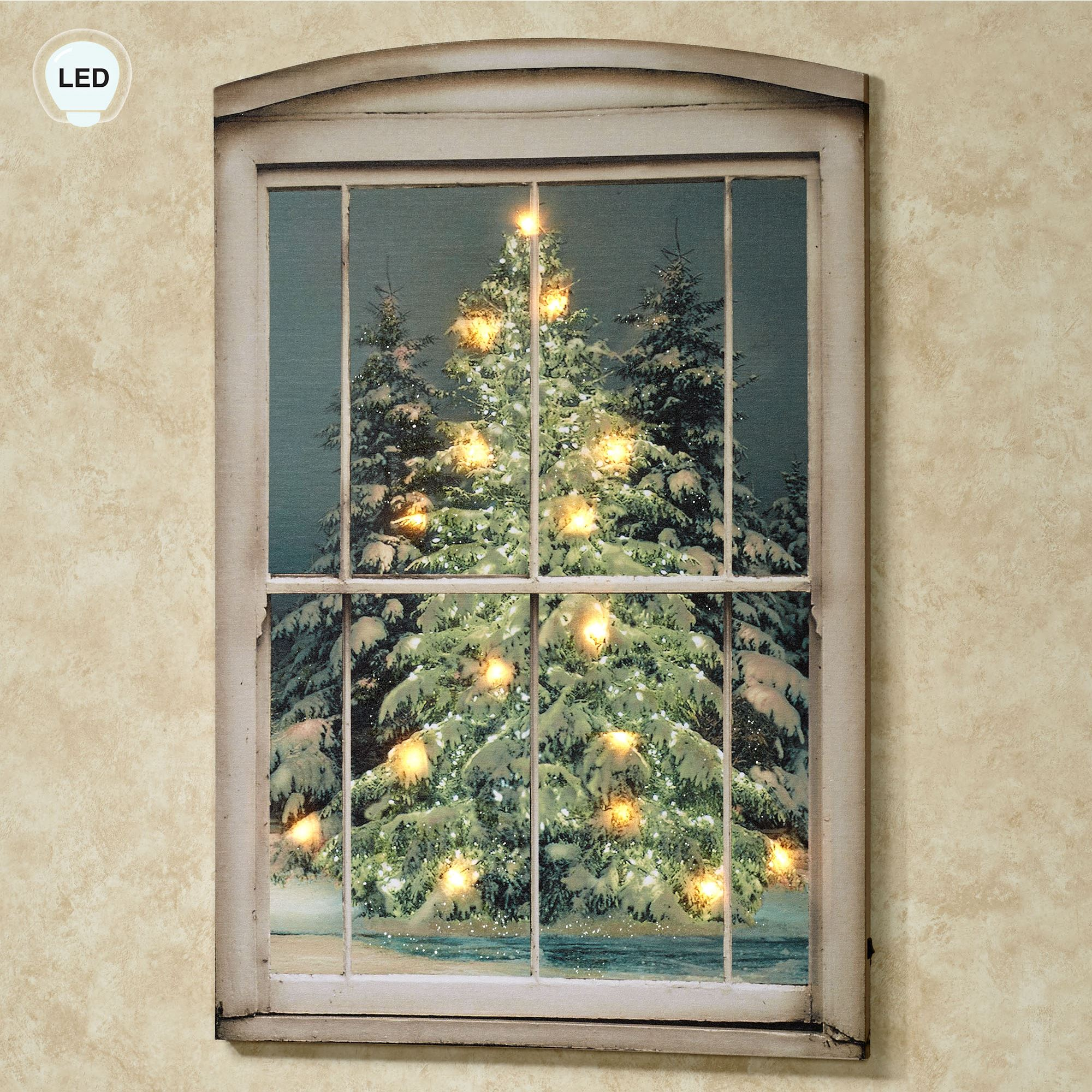 Glistening pines led lighted canvas wall art touch to zoom aloadofball Gallery