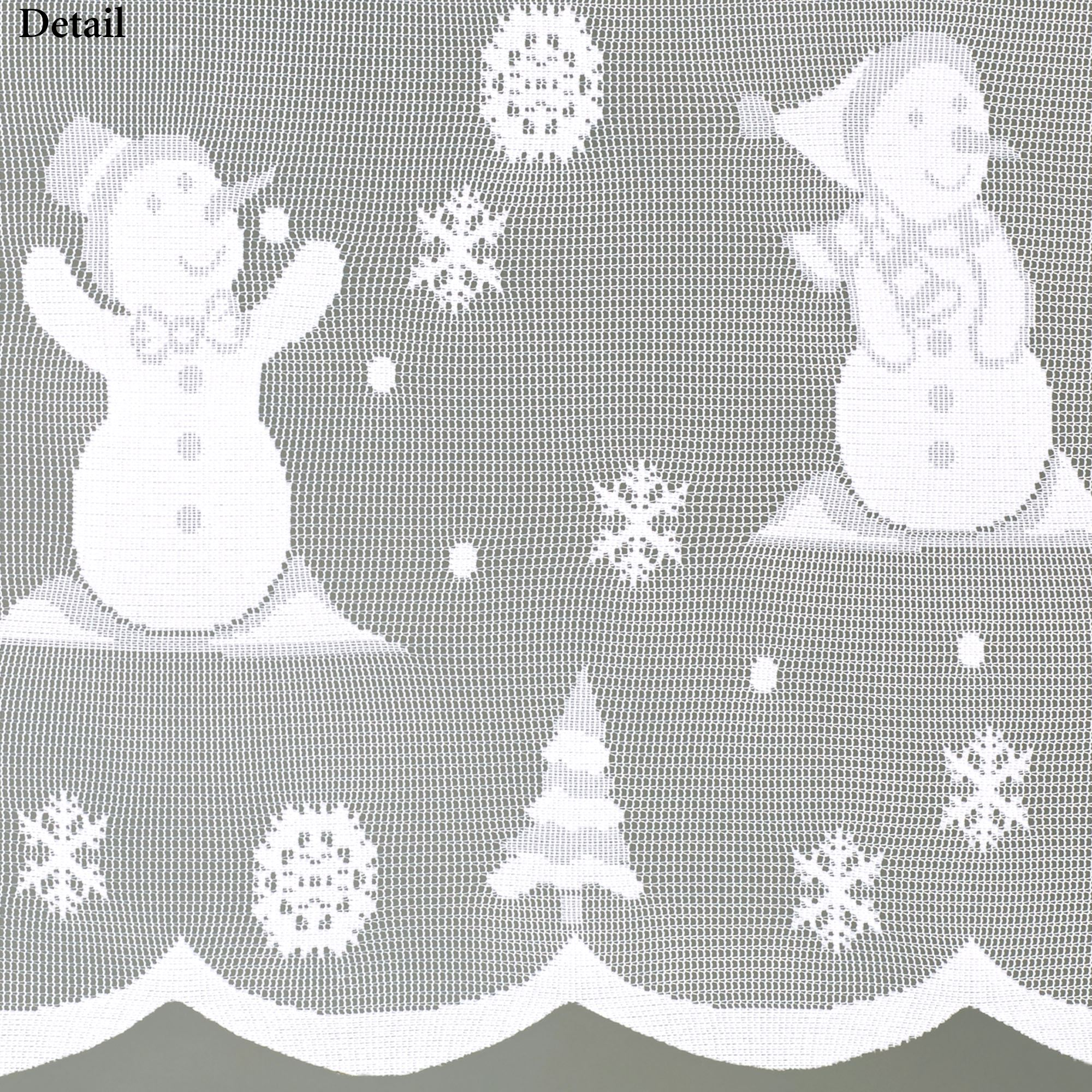Snowman Lace Tier Pair White