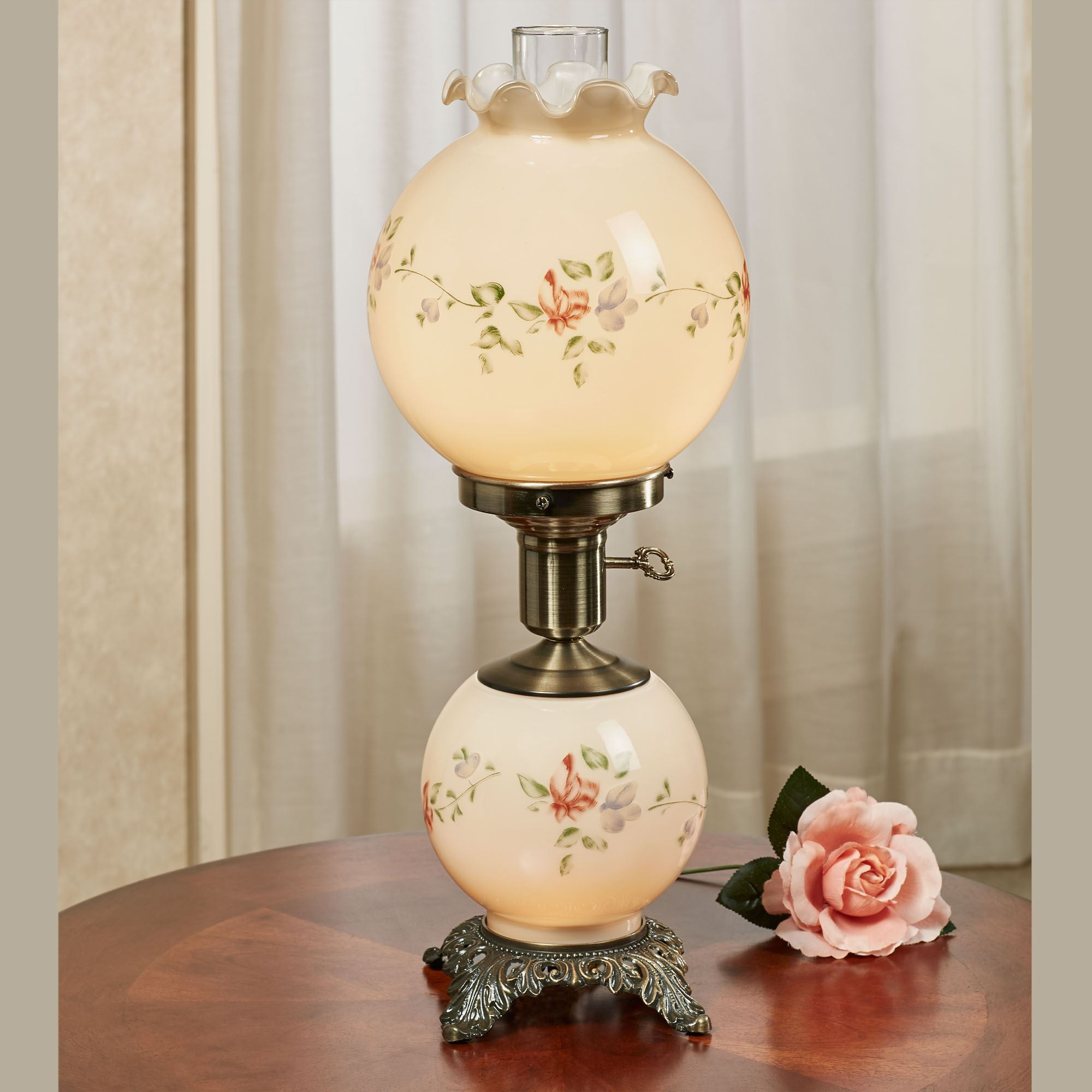 Julia Glass Globe Table Lamp With Bulbs