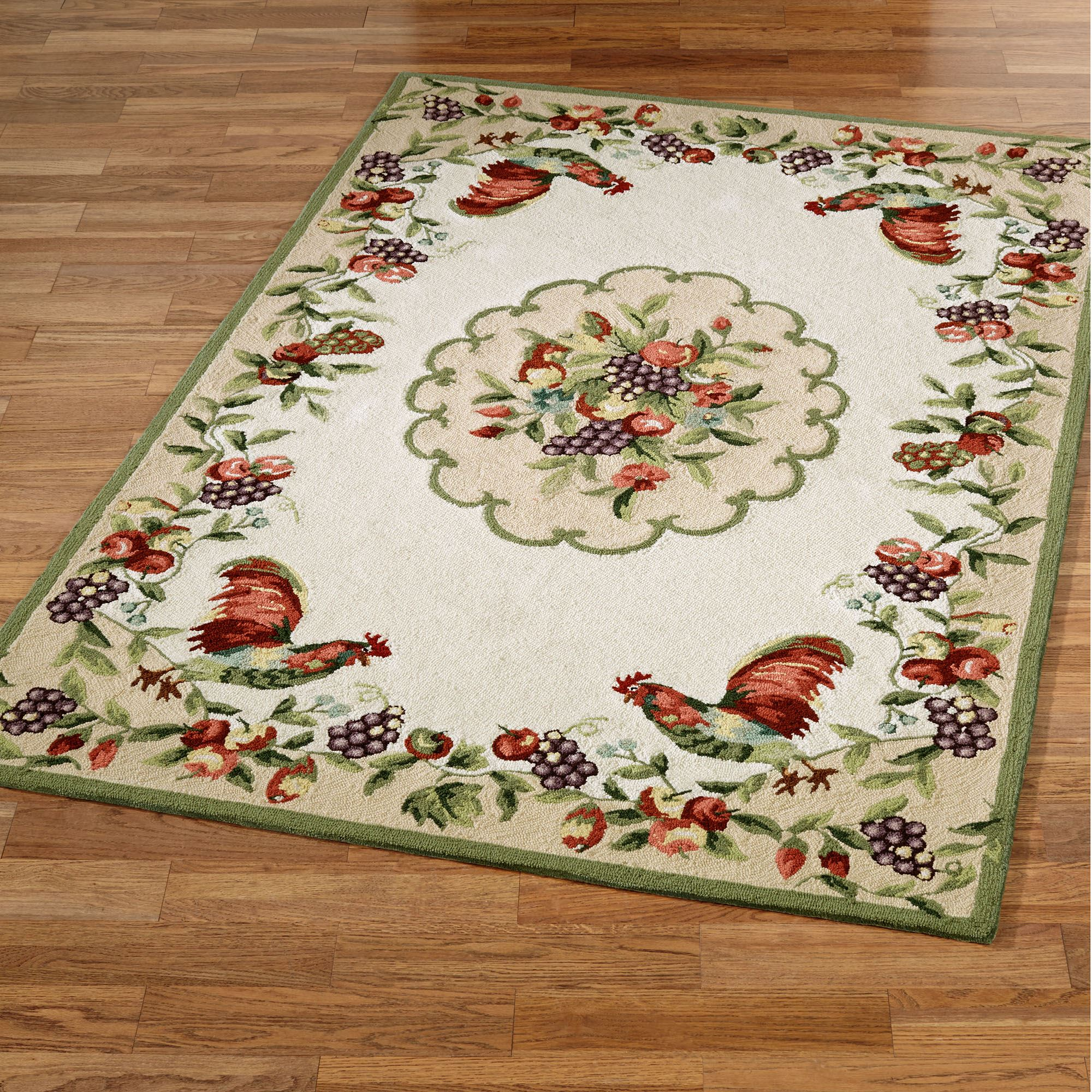 Sonoma Hand Hooked Rooster Area Rugs