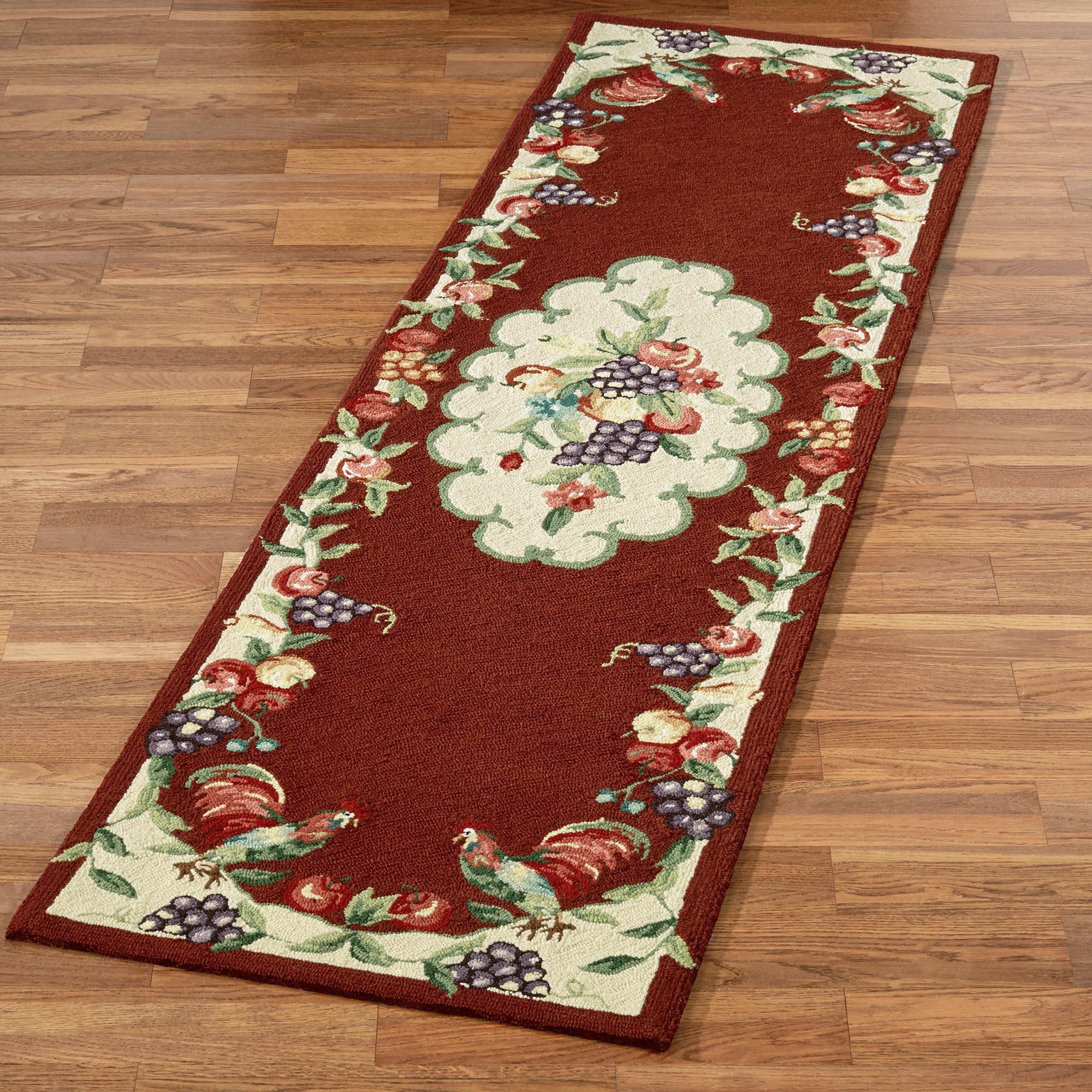 Sonoma Hand Hooked Rooster Rug Runners