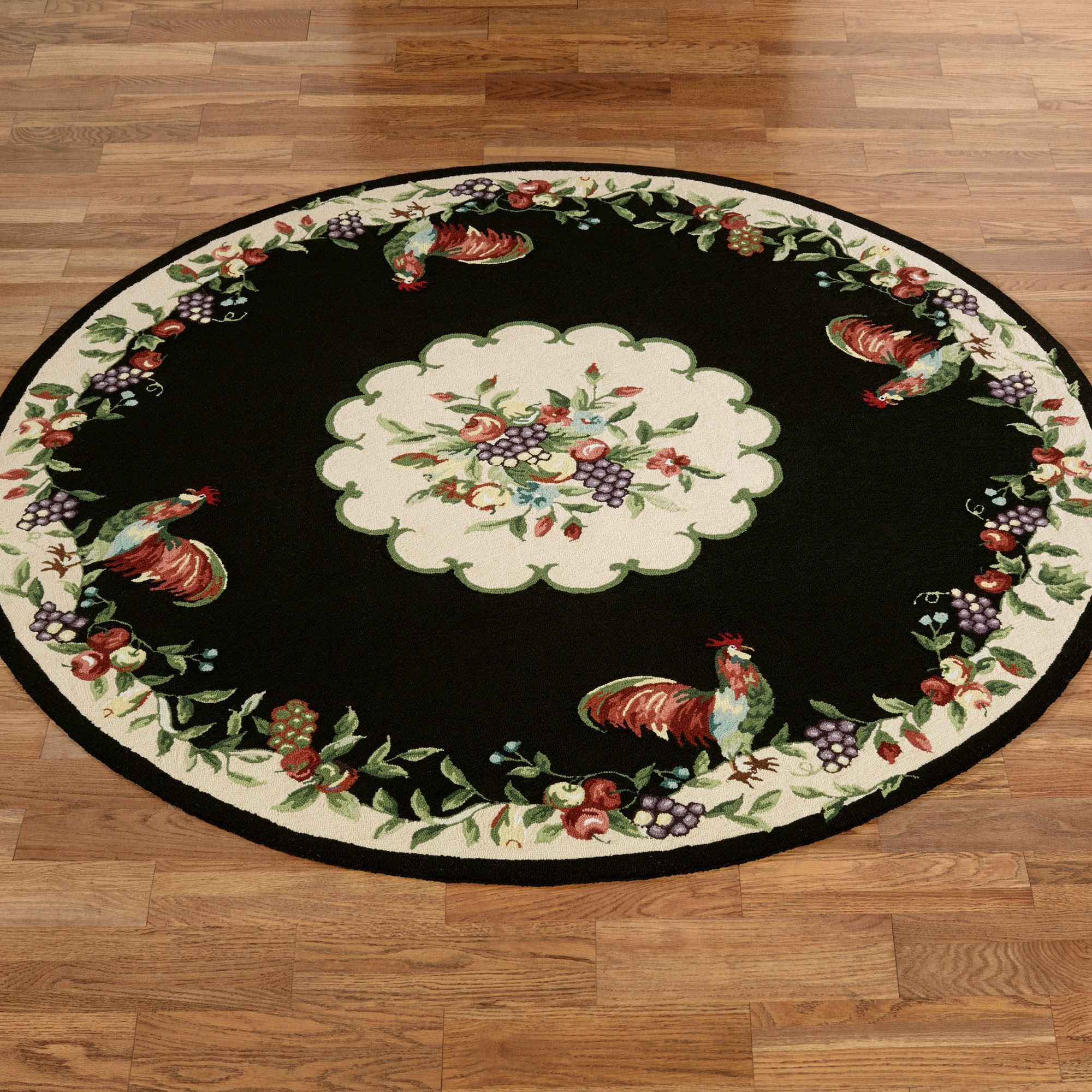 Fabulous Sonoma Hand Hooked Rooster Round Rugs Best Image Libraries Thycampuscom