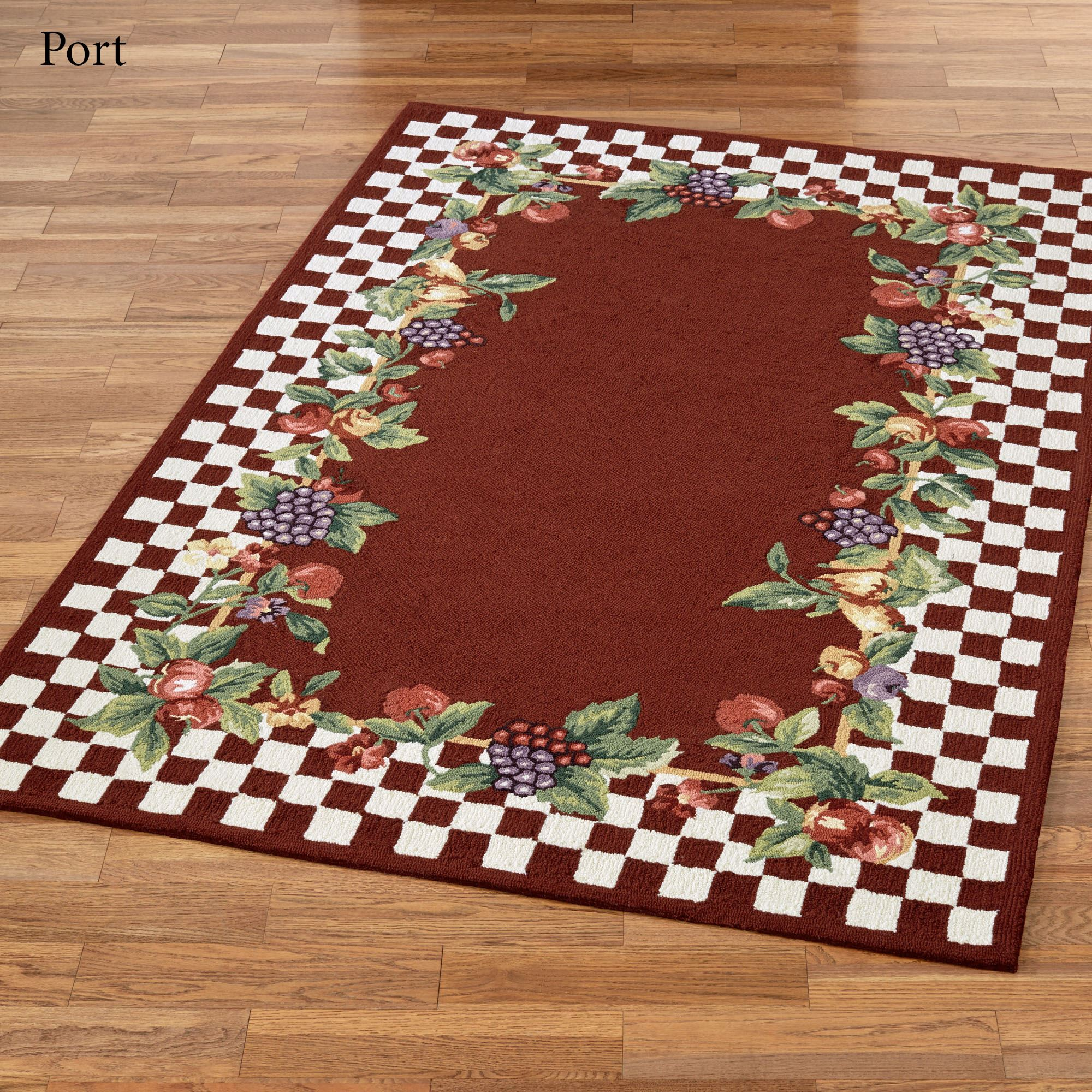 Sonoma Hand Hooked Fruit Area Rugs