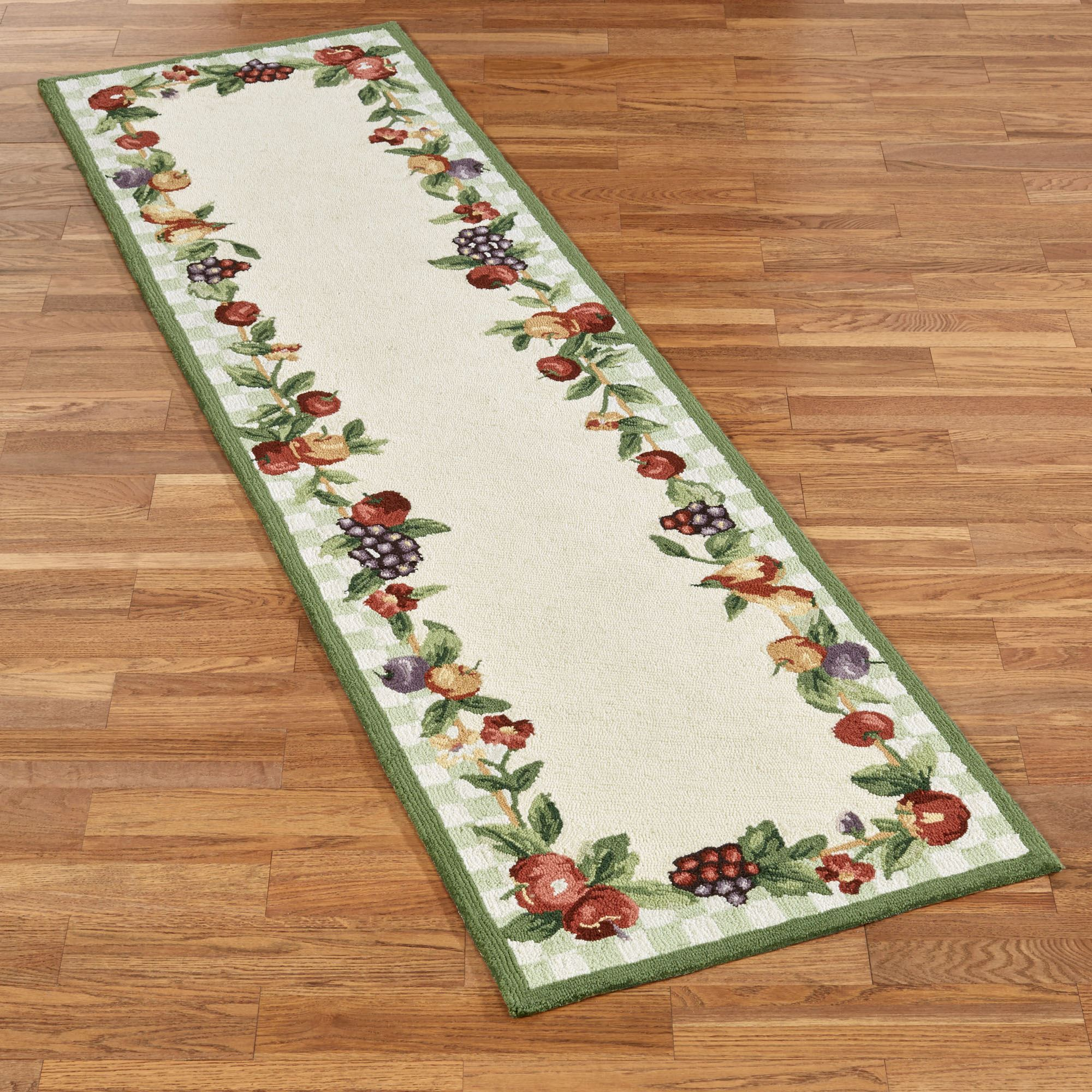 Sonoma hand hooked fruit rug runners for Runners carpets and rugs