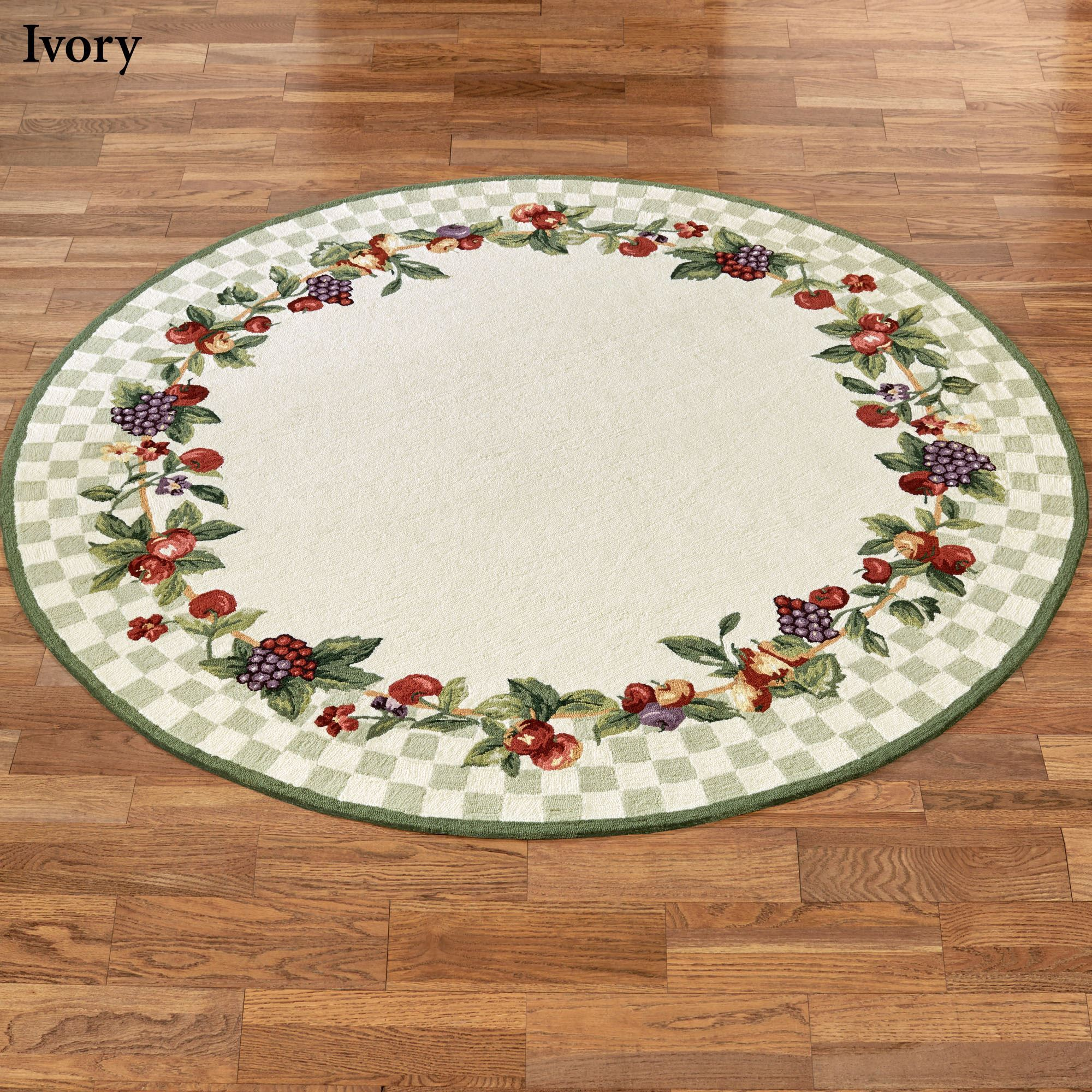 Sonoma hand hooked fruit round rugs for Round carpets and rugs