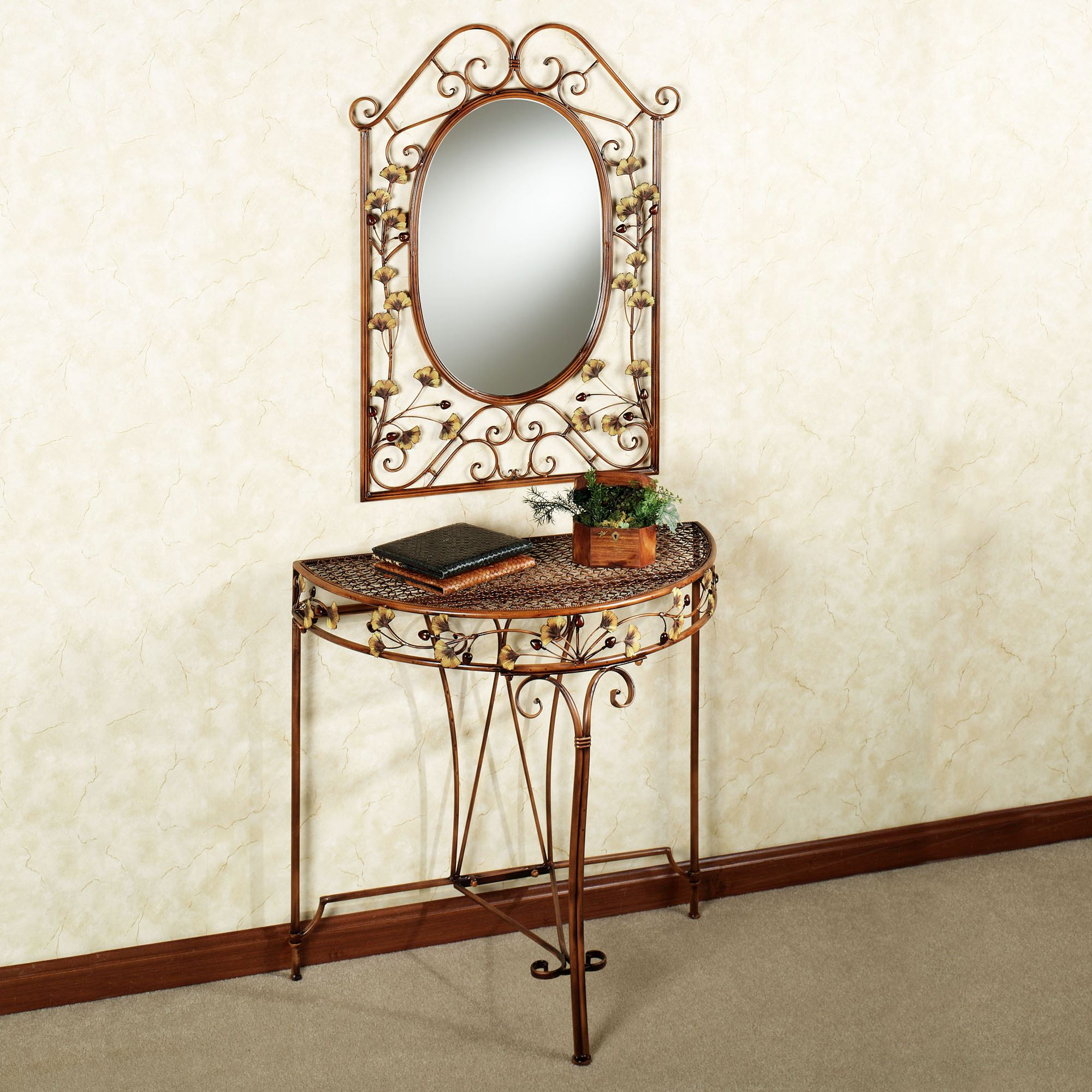 Ginkgo Console Table and Mirror Set & Ginkgo Console Table and Mirror