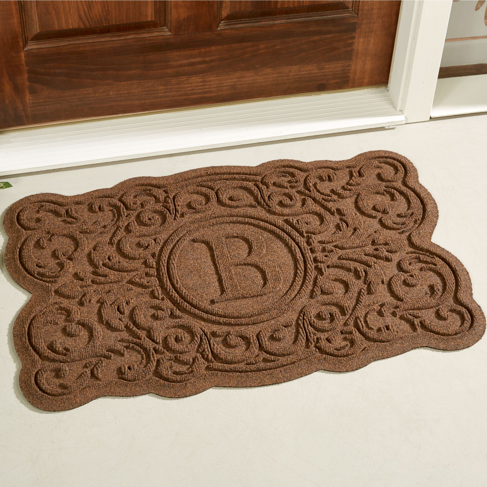 style gift family door to regard guard image of water doormat with house mats home mat wooden monogrammed elegant houses flourish the for front new
