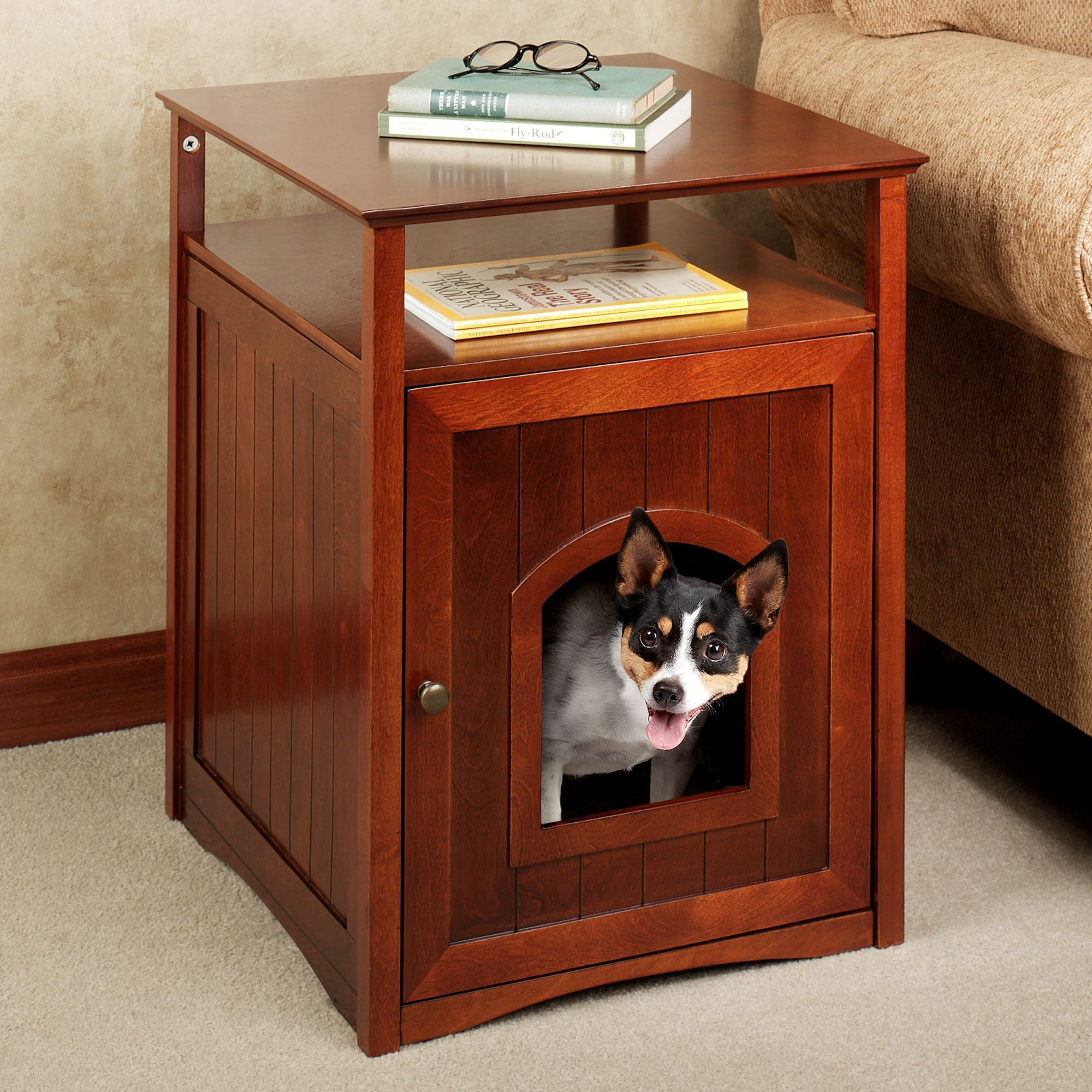Sa Wooden Accent Table Pet House