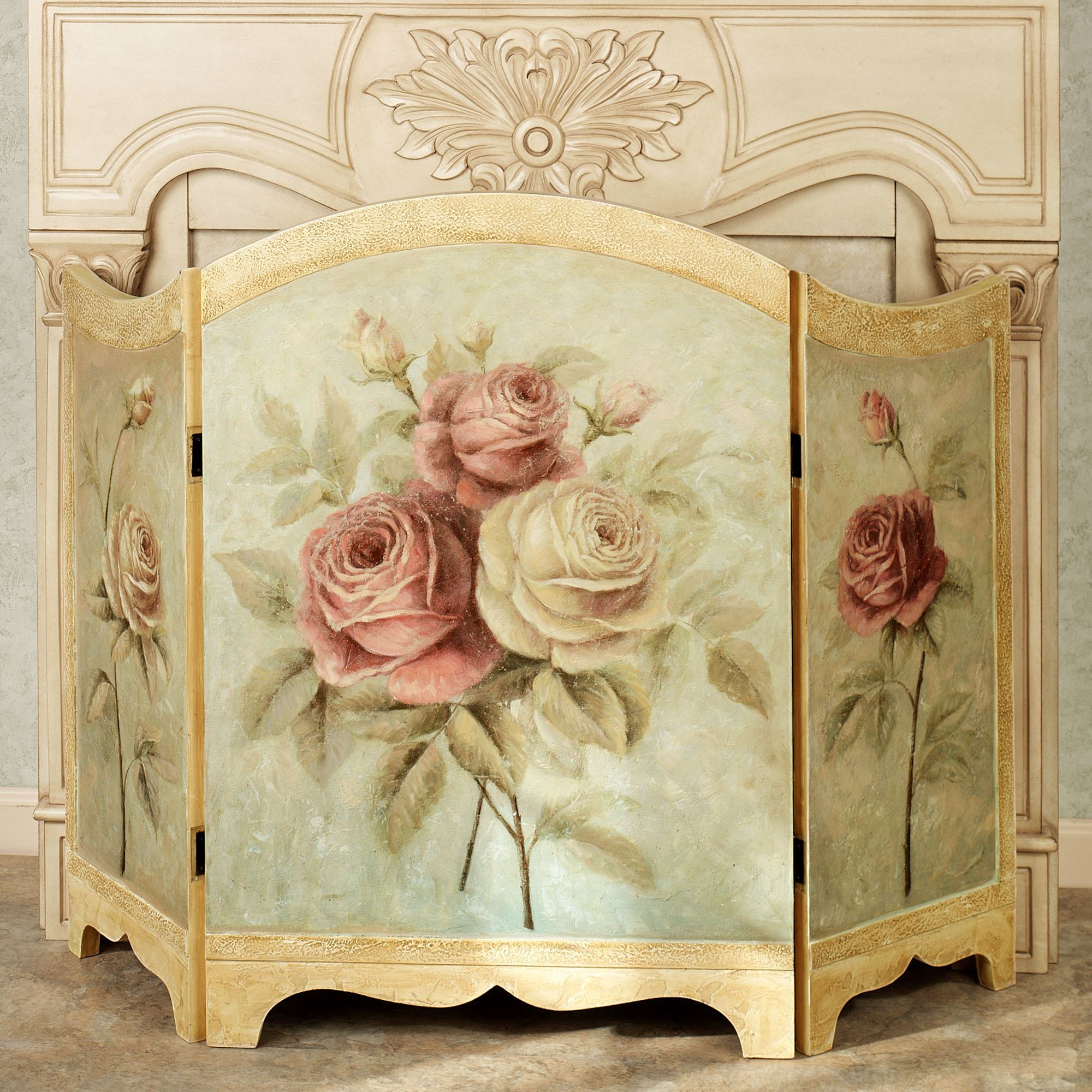 Rose Delight Decorative Fireplace Screen
