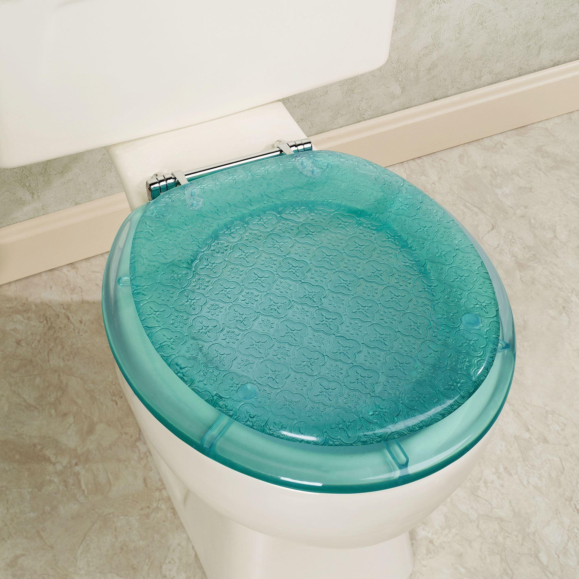 Vesta Teal Decorative Toilet Seat