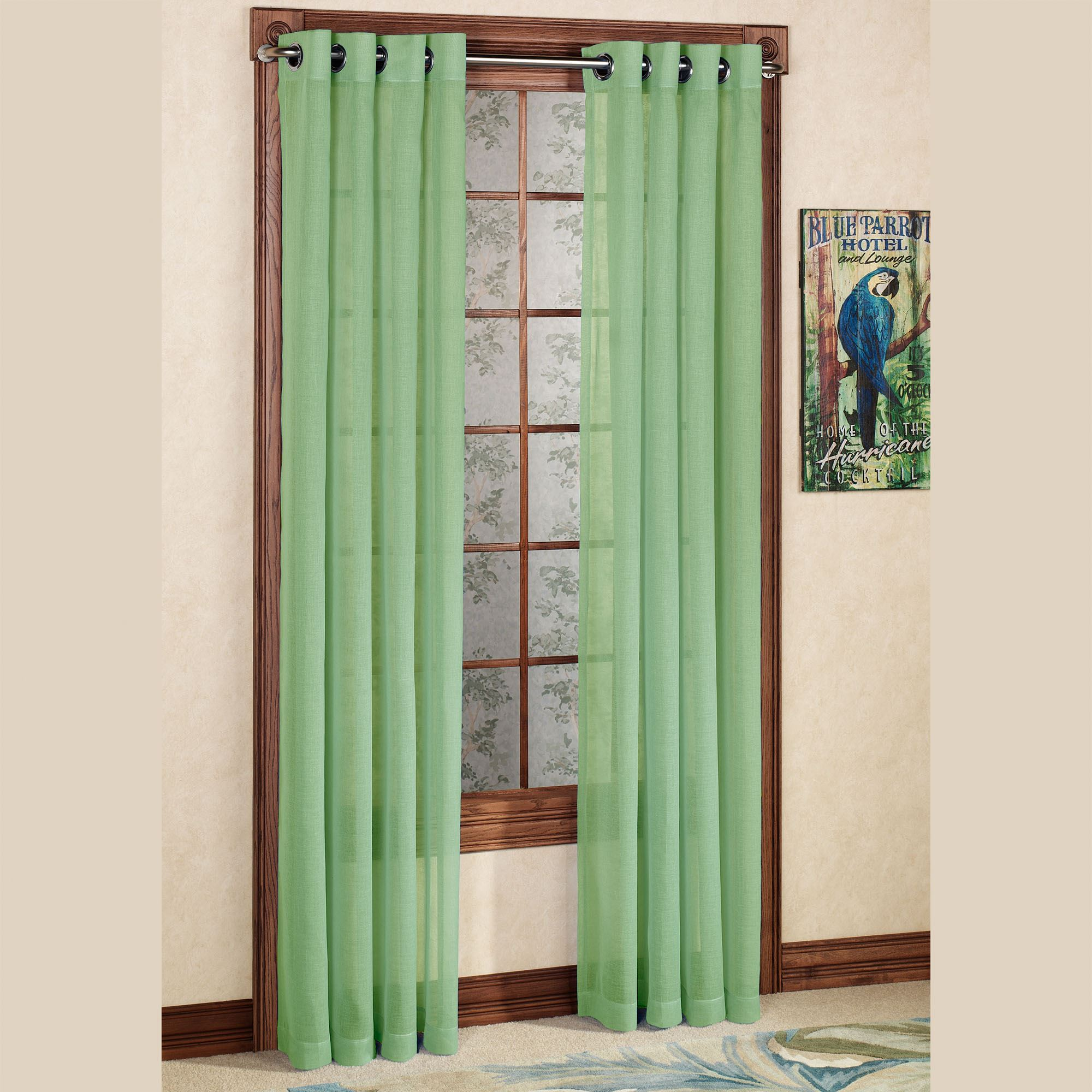 panels brylanehome drapes voile grommet curtains pin teal studio sheer