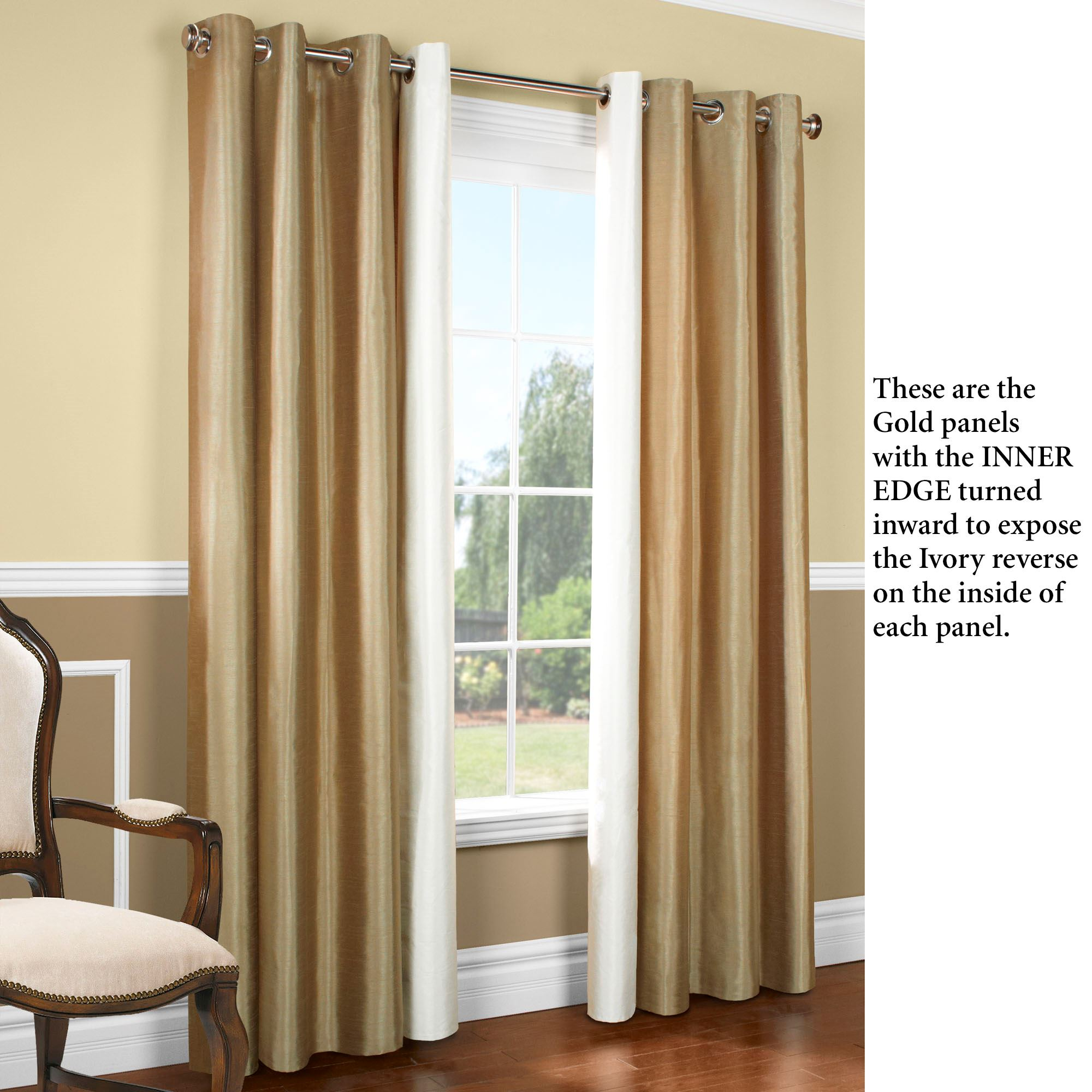 Miller Grommet Wide Curtain Pair