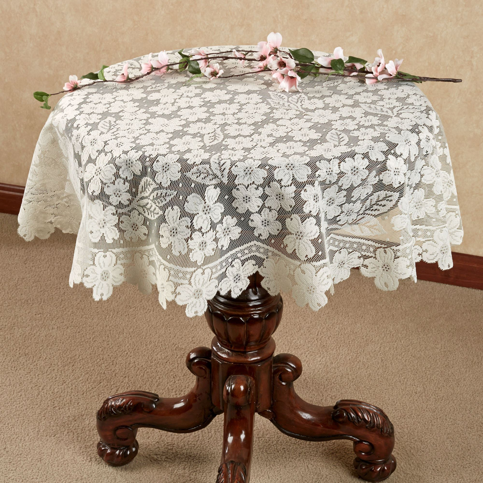 Etonnant Dogwood Lace Table Topper 42 Round