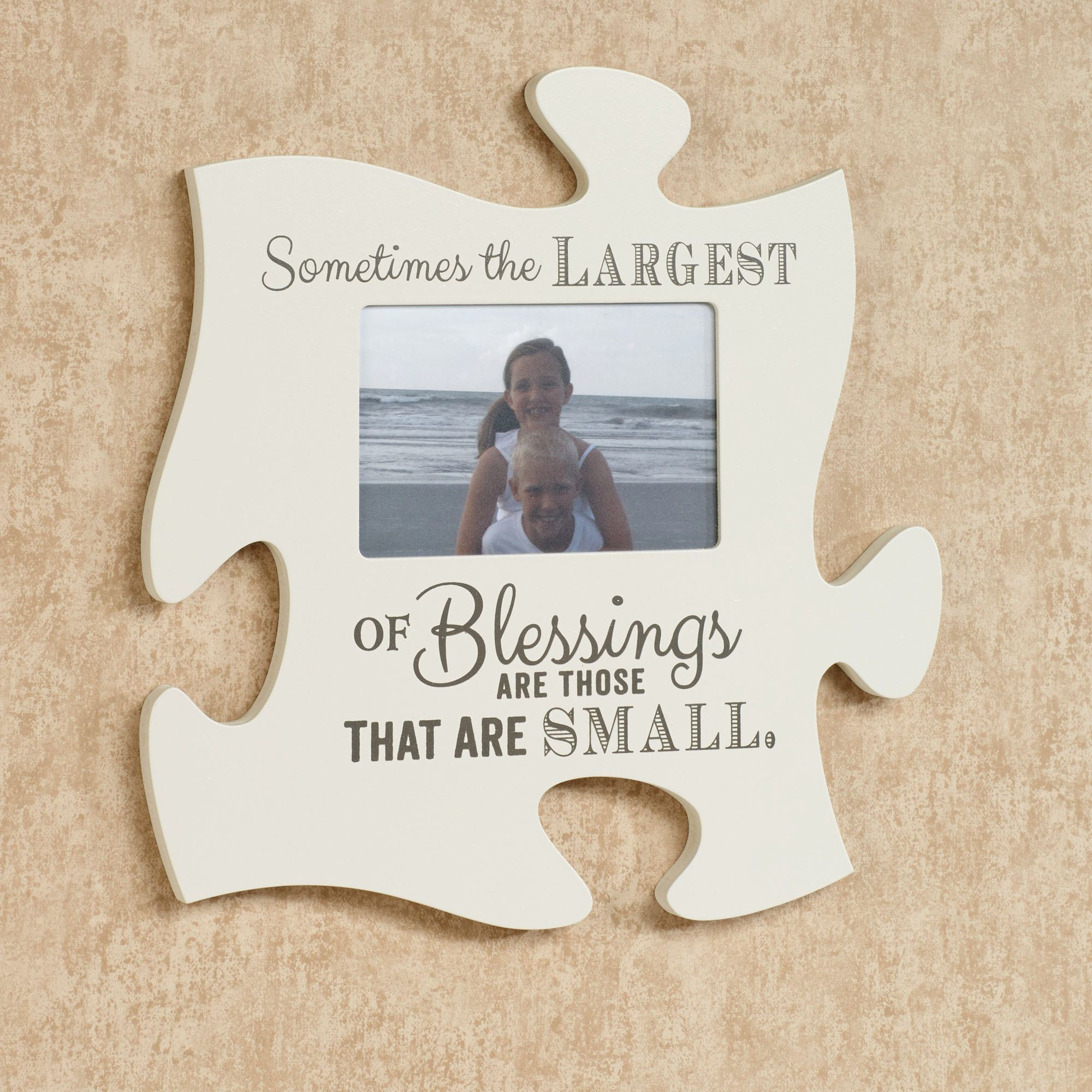 Blessings Photo Frame Puzzle Piece Wall Art