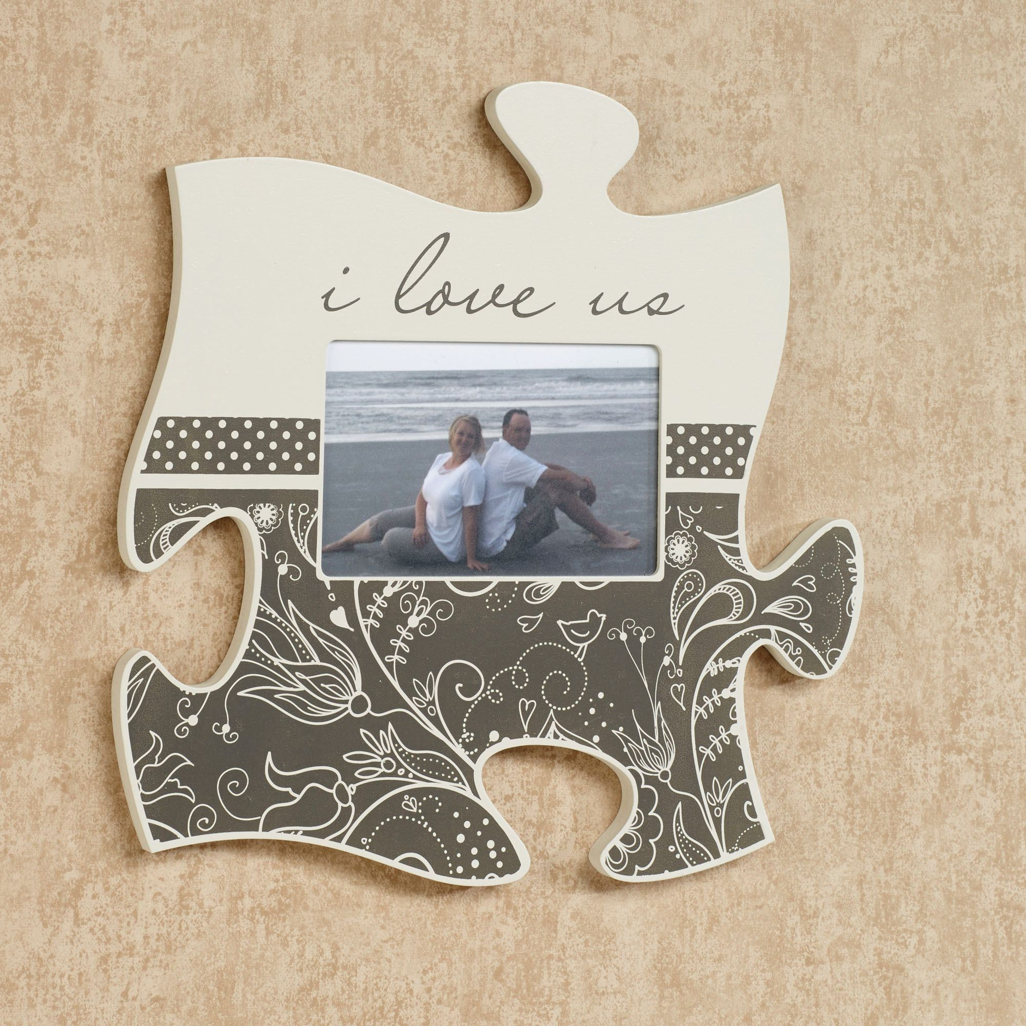 Puzzle wall art touch of class i love us photo frame puzzle piece wall art jeuxipadfo Images
