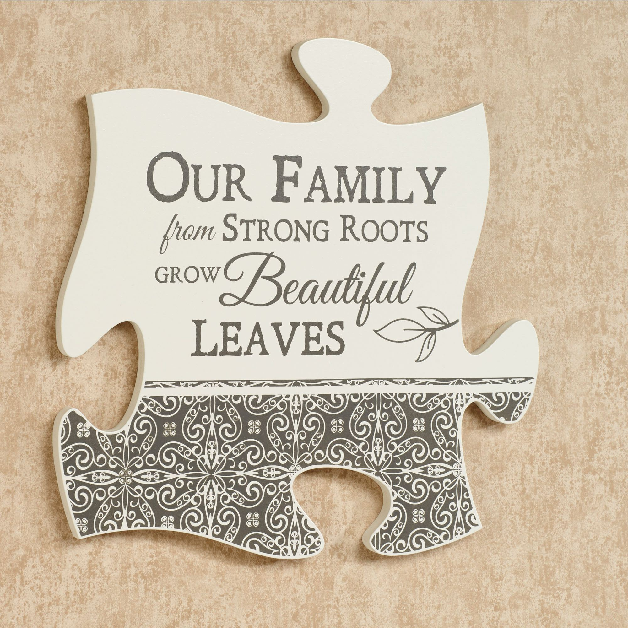 Our Family Quote Puzzle Piece Wall Art