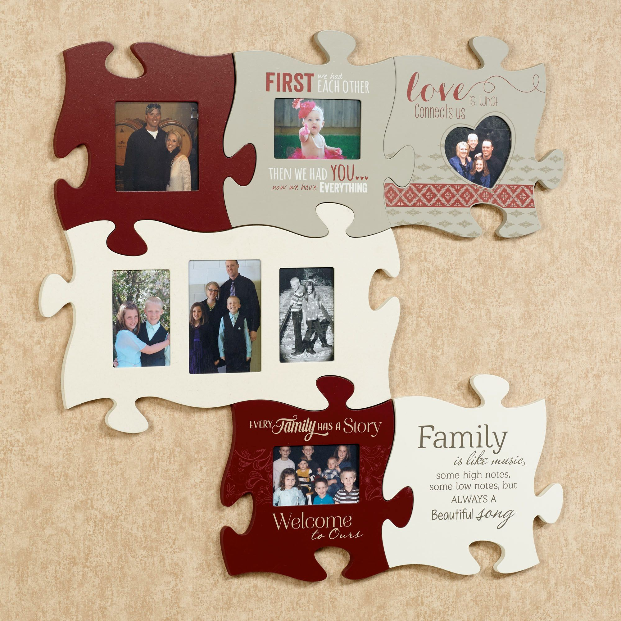 Every family photo frame puzzle piece wall art click to expand jeuxipadfo Images
