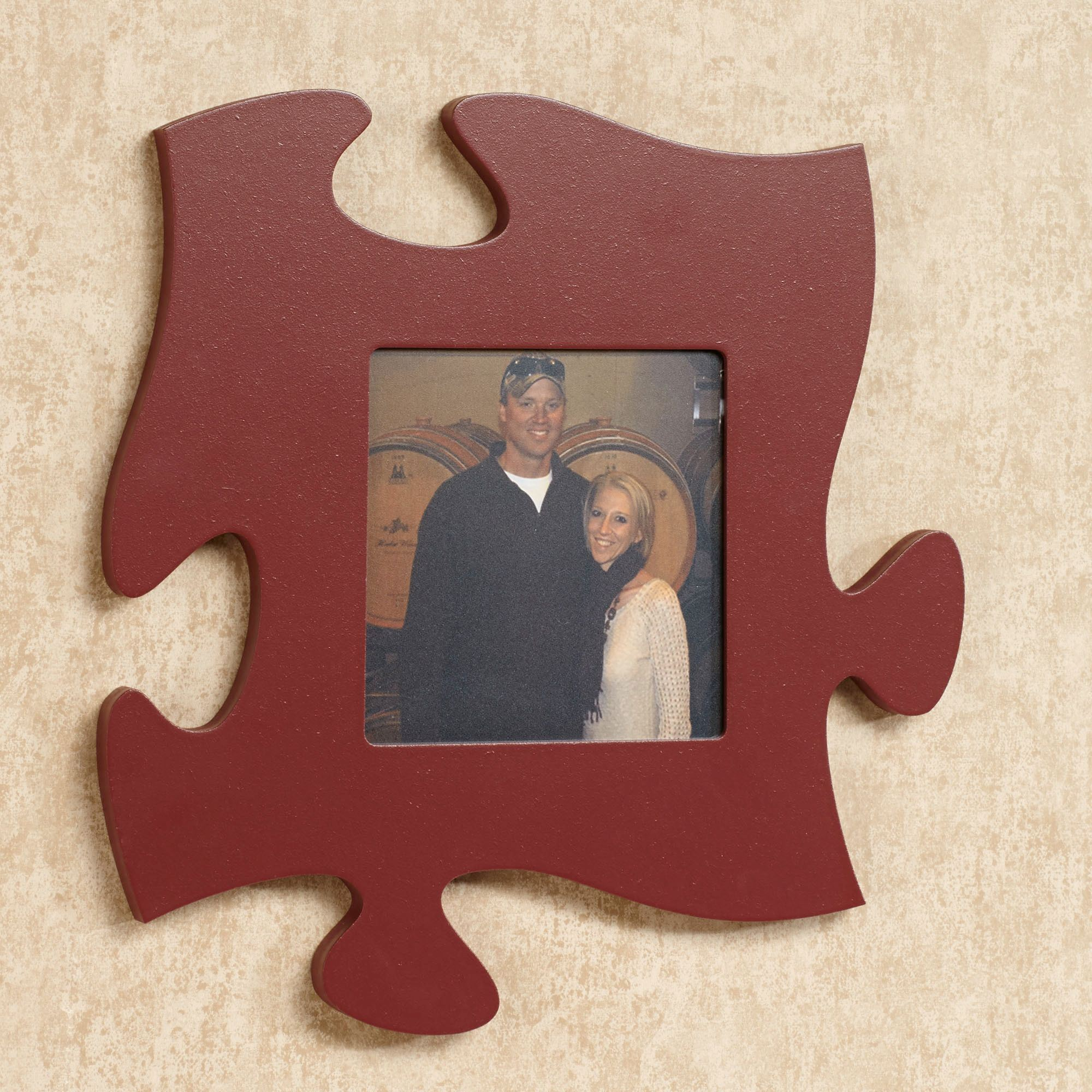 Every family photo frame puzzle piece wall art puzzle piece photo frame burgundy jeuxipadfo Images