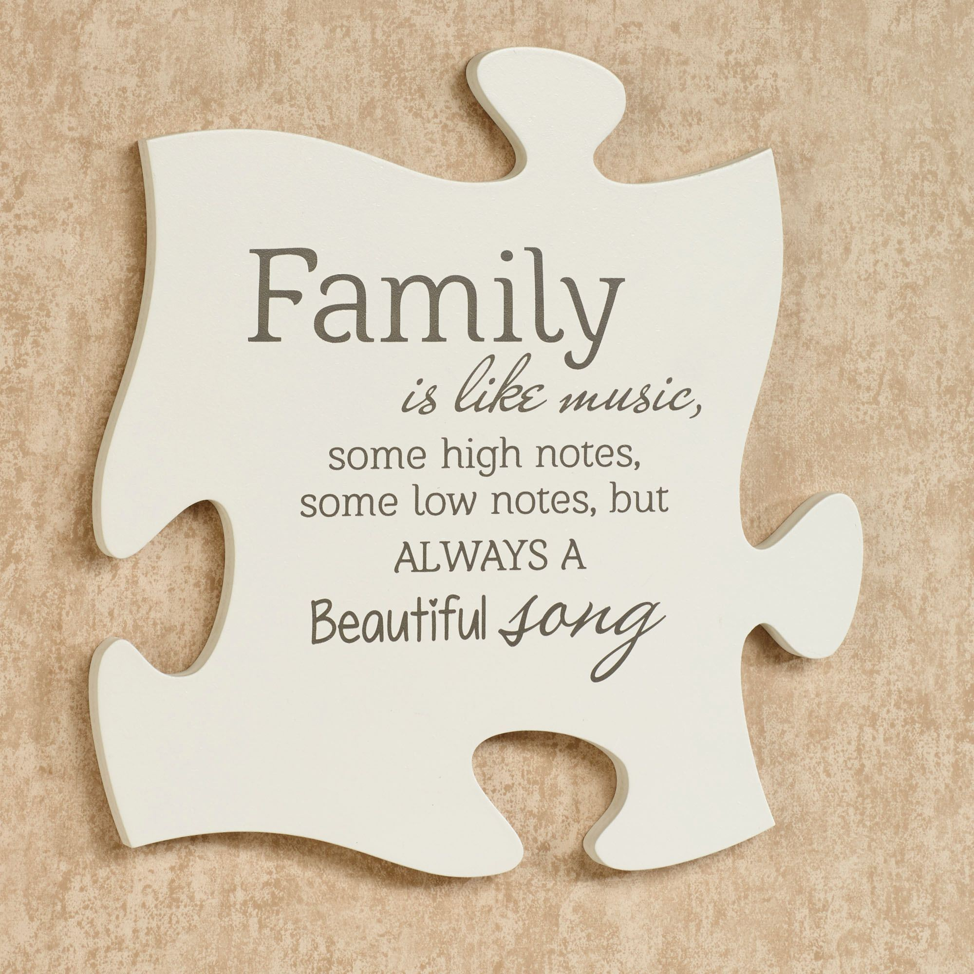 Every family photo frame puzzle piece wall art family is quote puzzle piece cream jeuxipadfo Images
