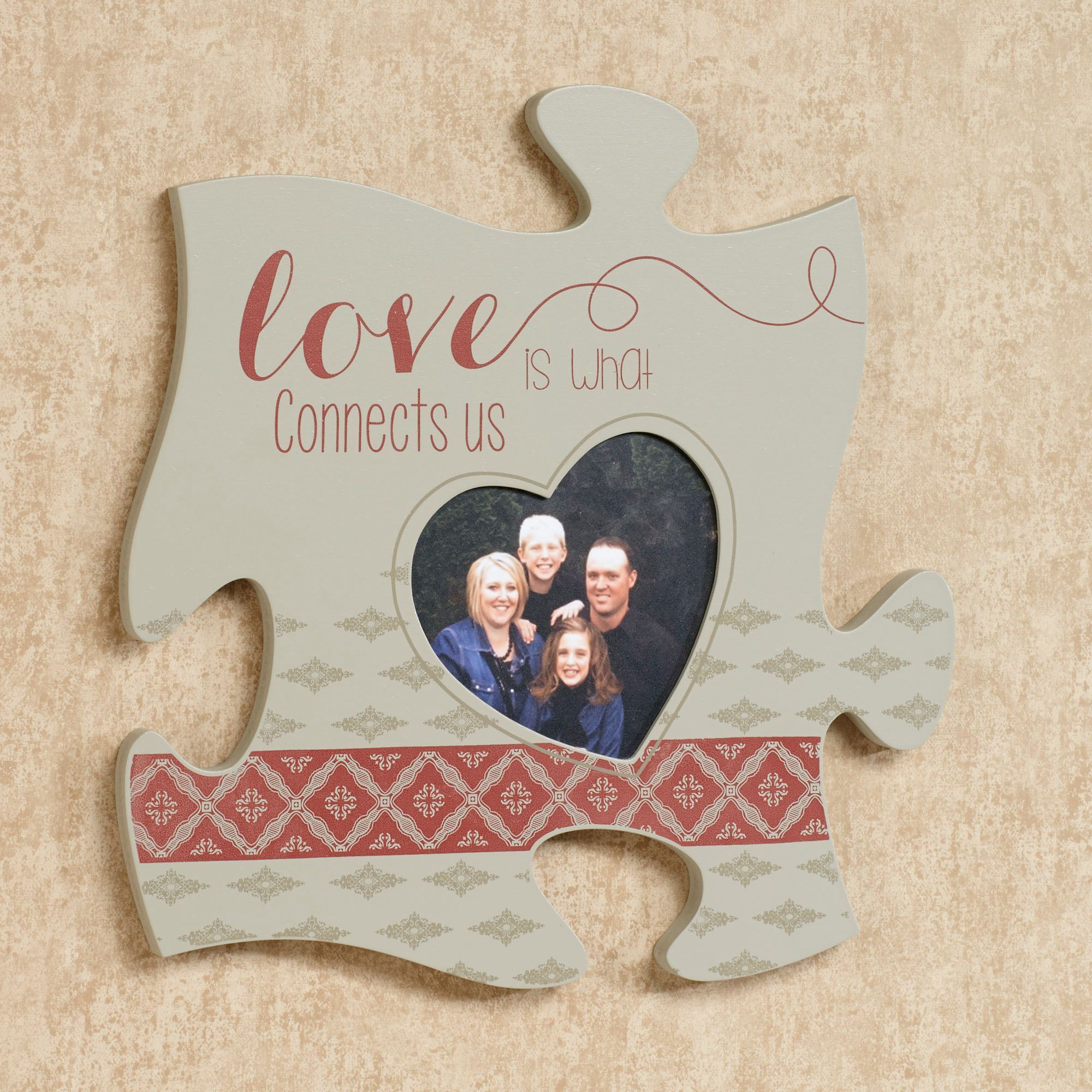Every family photo frame puzzle piece wall art love is quote photo frame gray jeuxipadfo Images