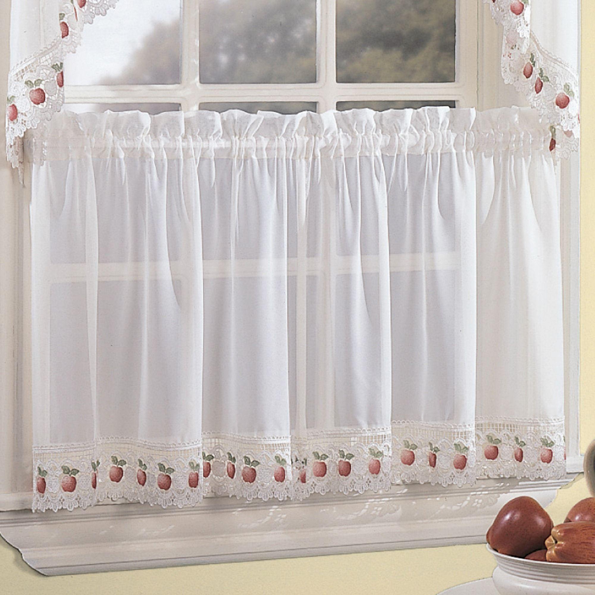 Apple Orchard Sheer Kitchen Tier Window Treatment