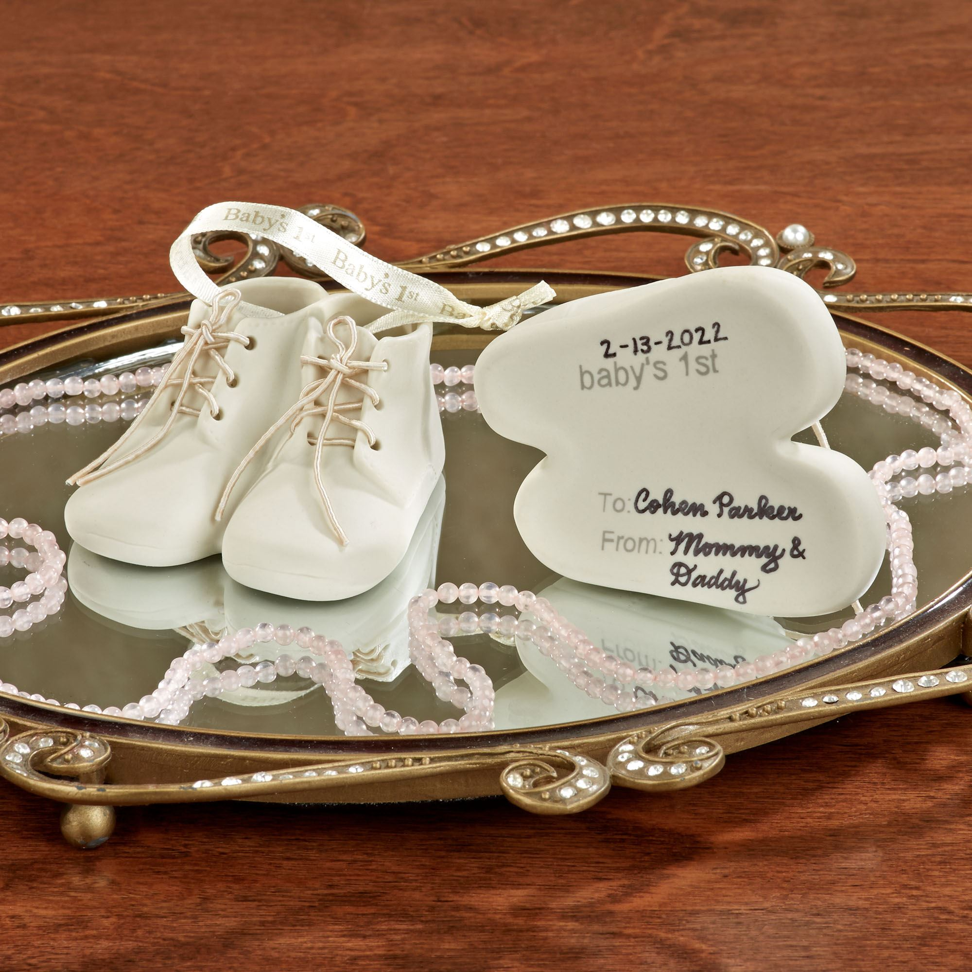 fcce1a771 Baby Bootie First Keepsake Ornament