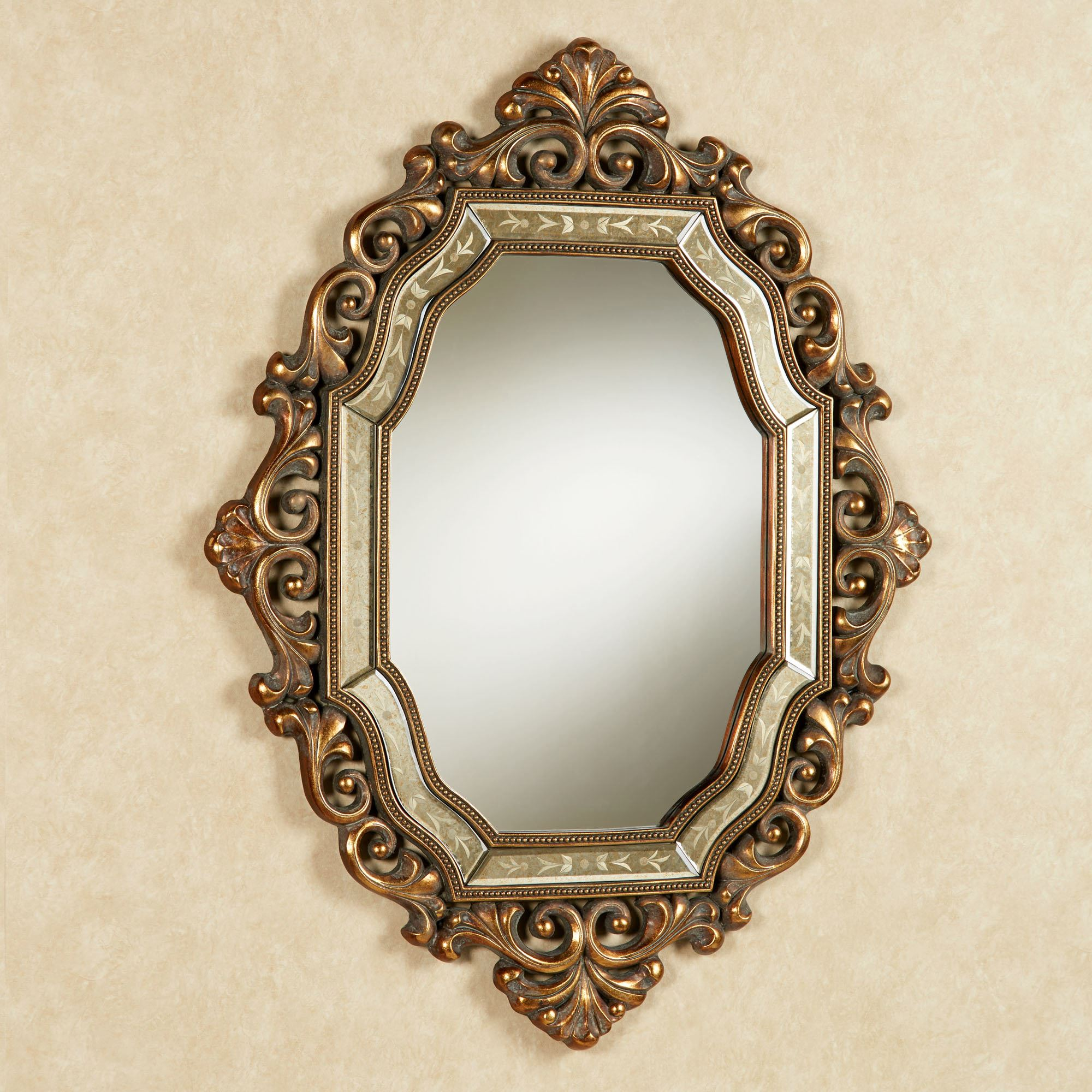 Verena old world wall mirror for Old style mirror