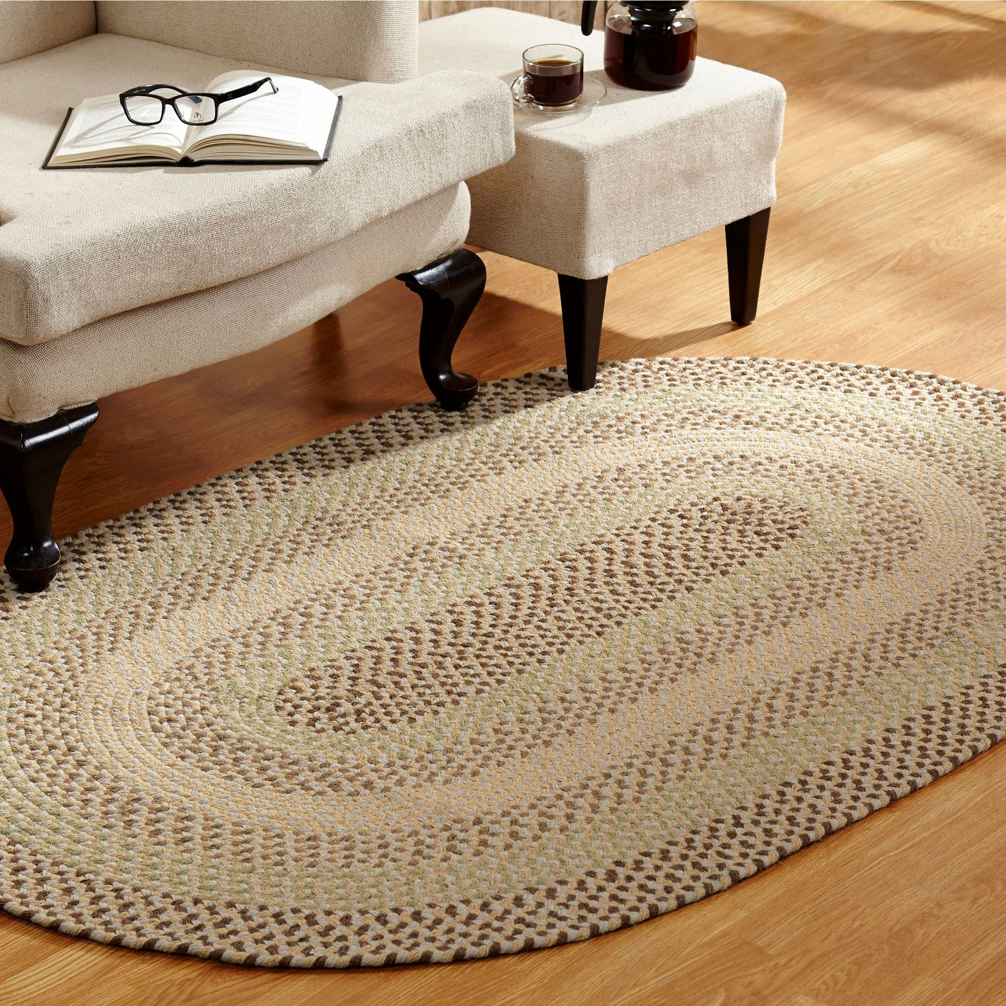 Woodbridge Reversible Braided Area Rugs