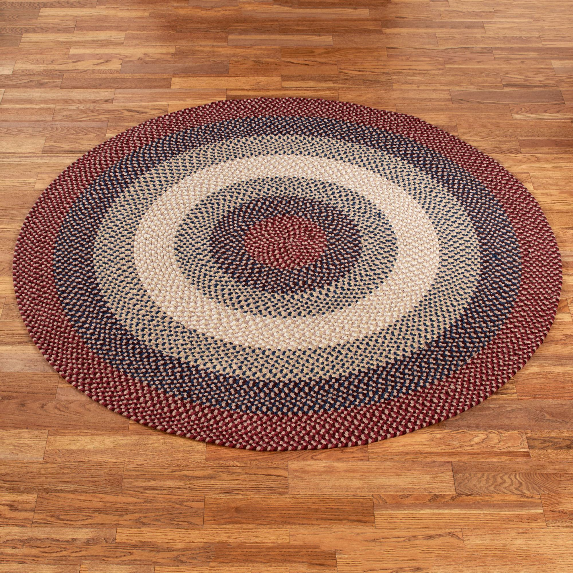 rug red rhody room area round oriental country for in oval hand brown braided throw wonderful yellow karastan rope weavers living rugs stunning playtime tufted inc x