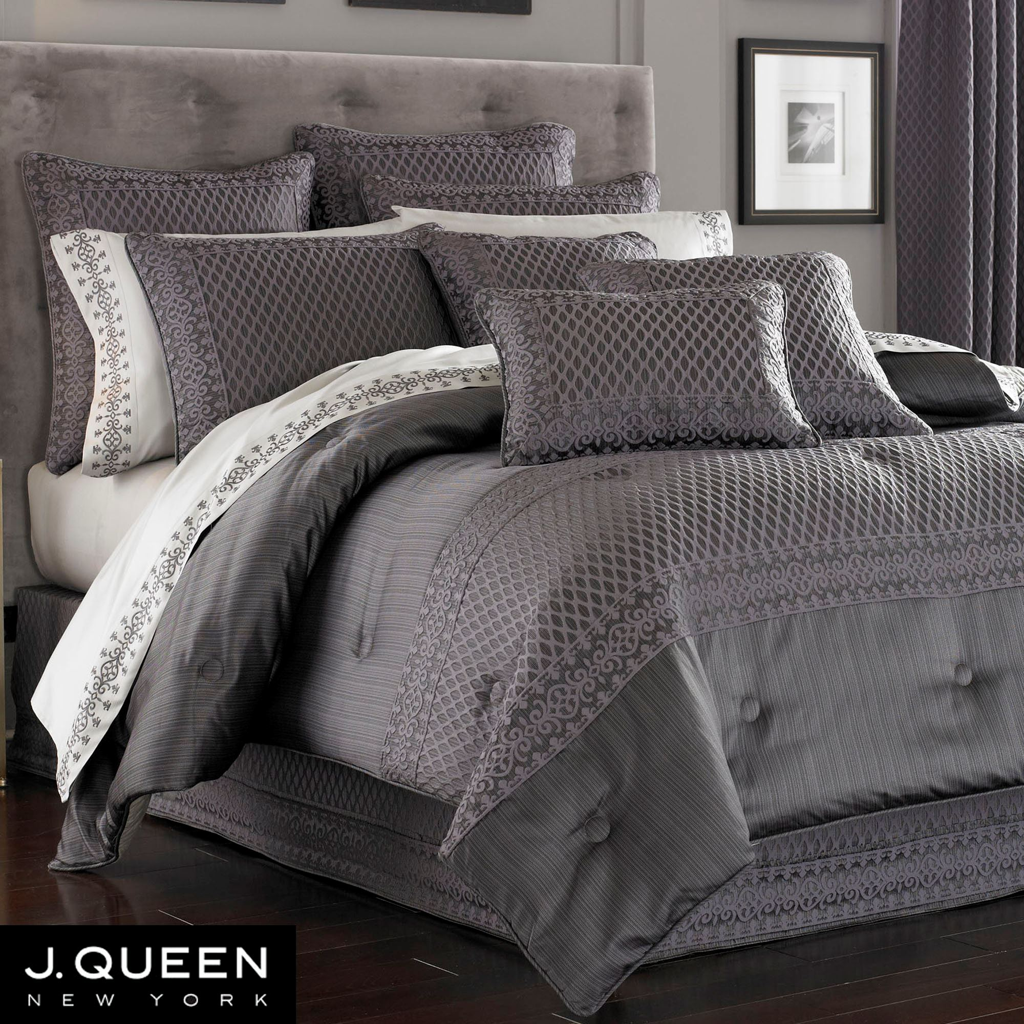 of trendy set image lodge queen grey ecrins comforter dark nice colored