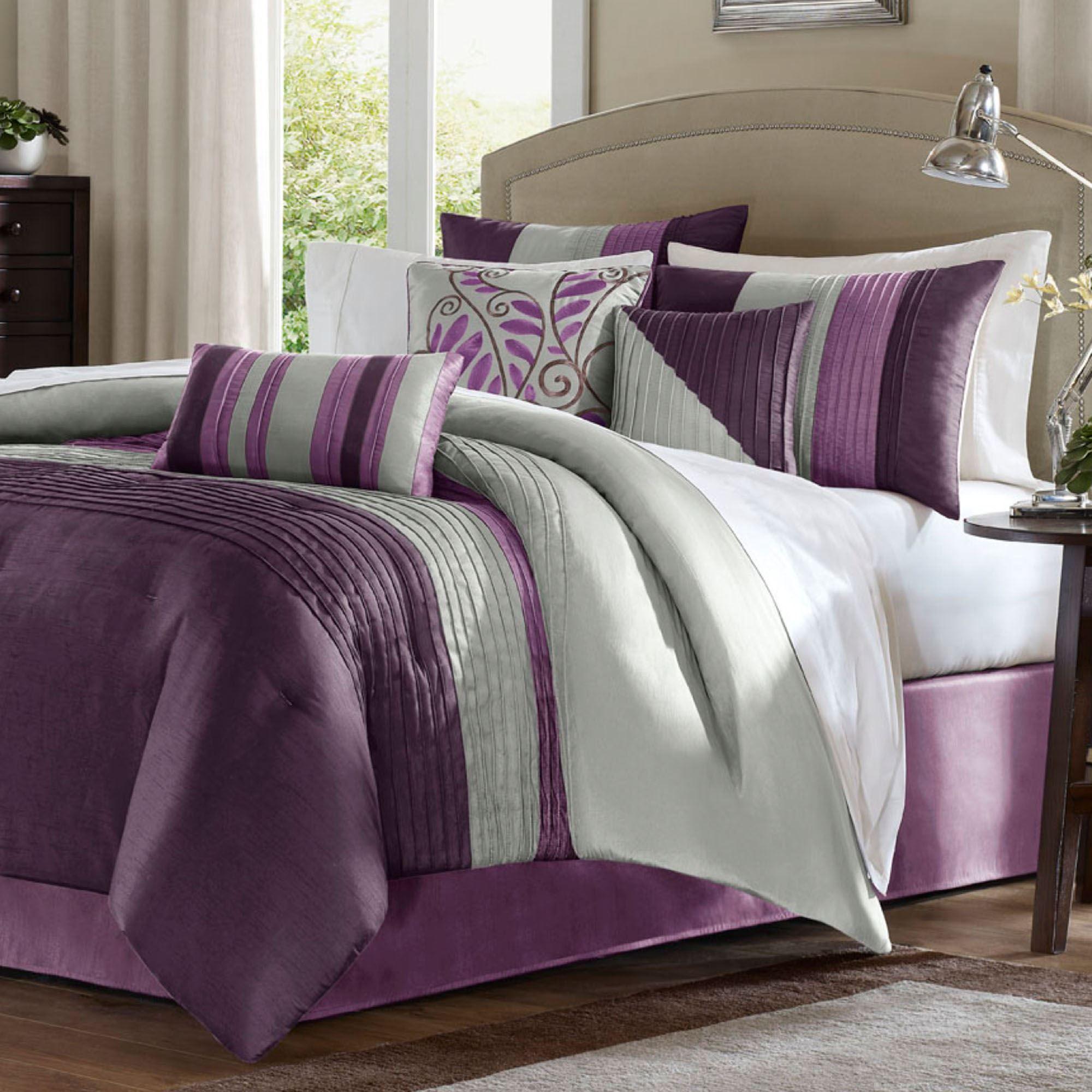 bed pintuck set comforters size free p shipping king salem pc comforter