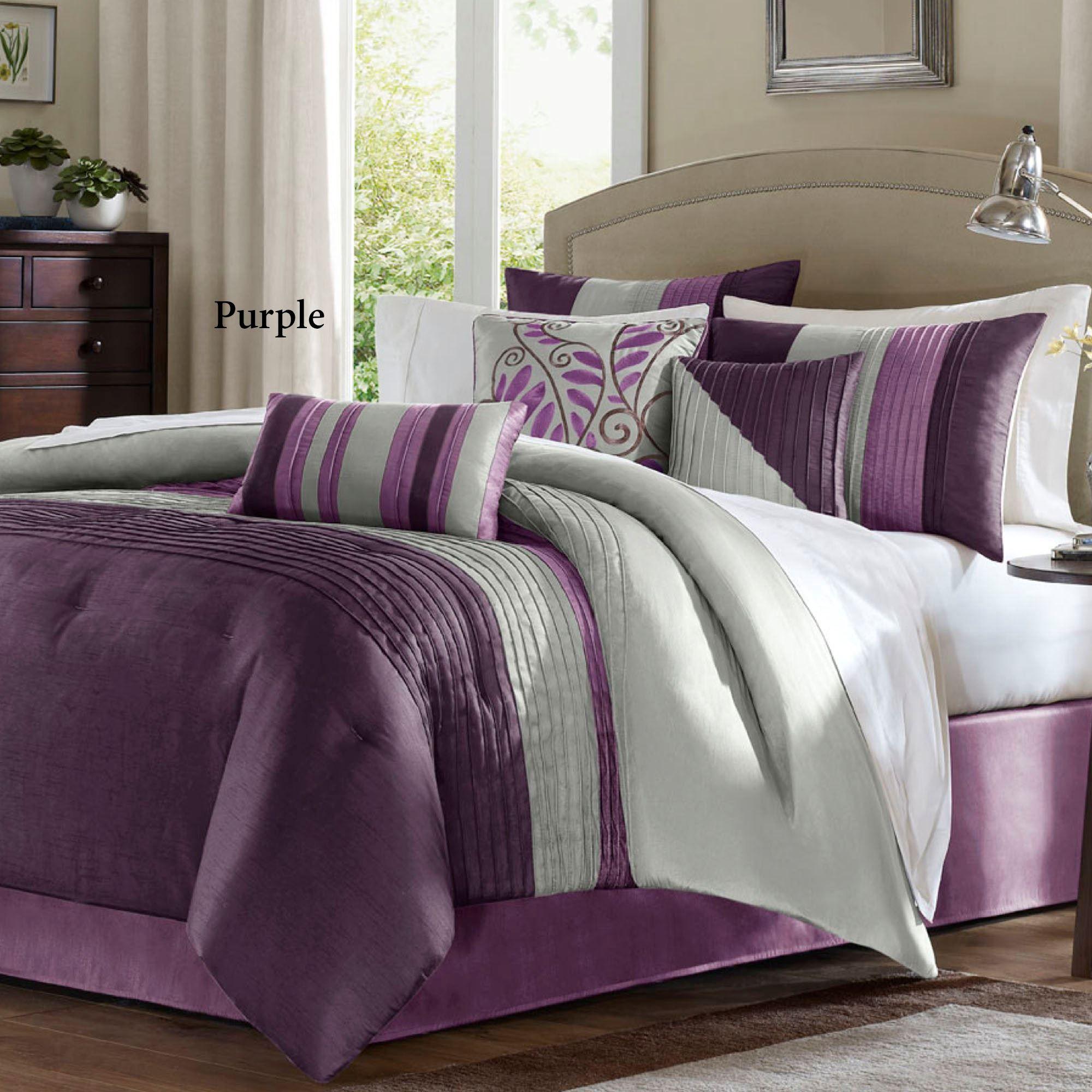 Salem 7 pc Pintuck forter Bed Set