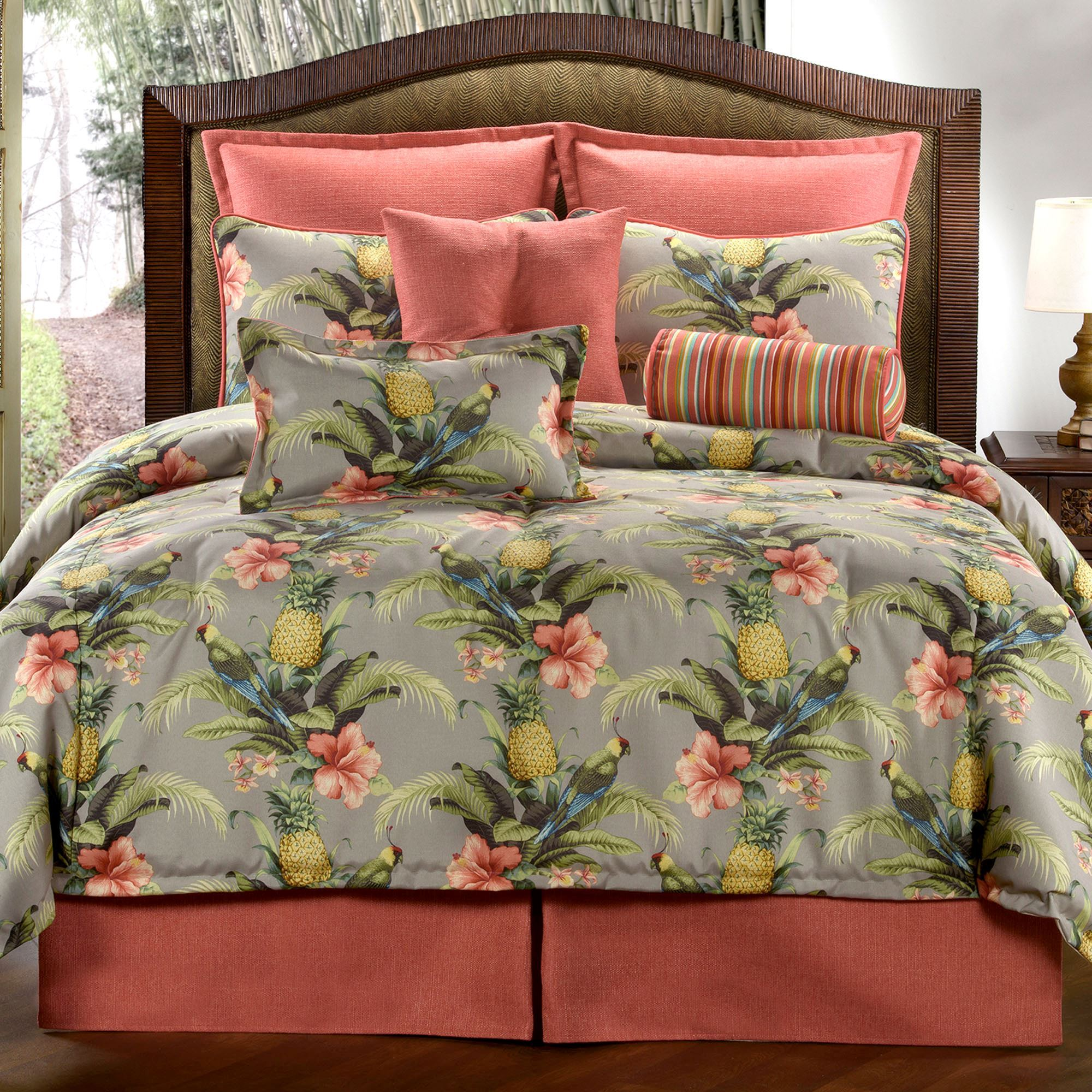 Polly Island Tropical Parrot Comforter Bedding